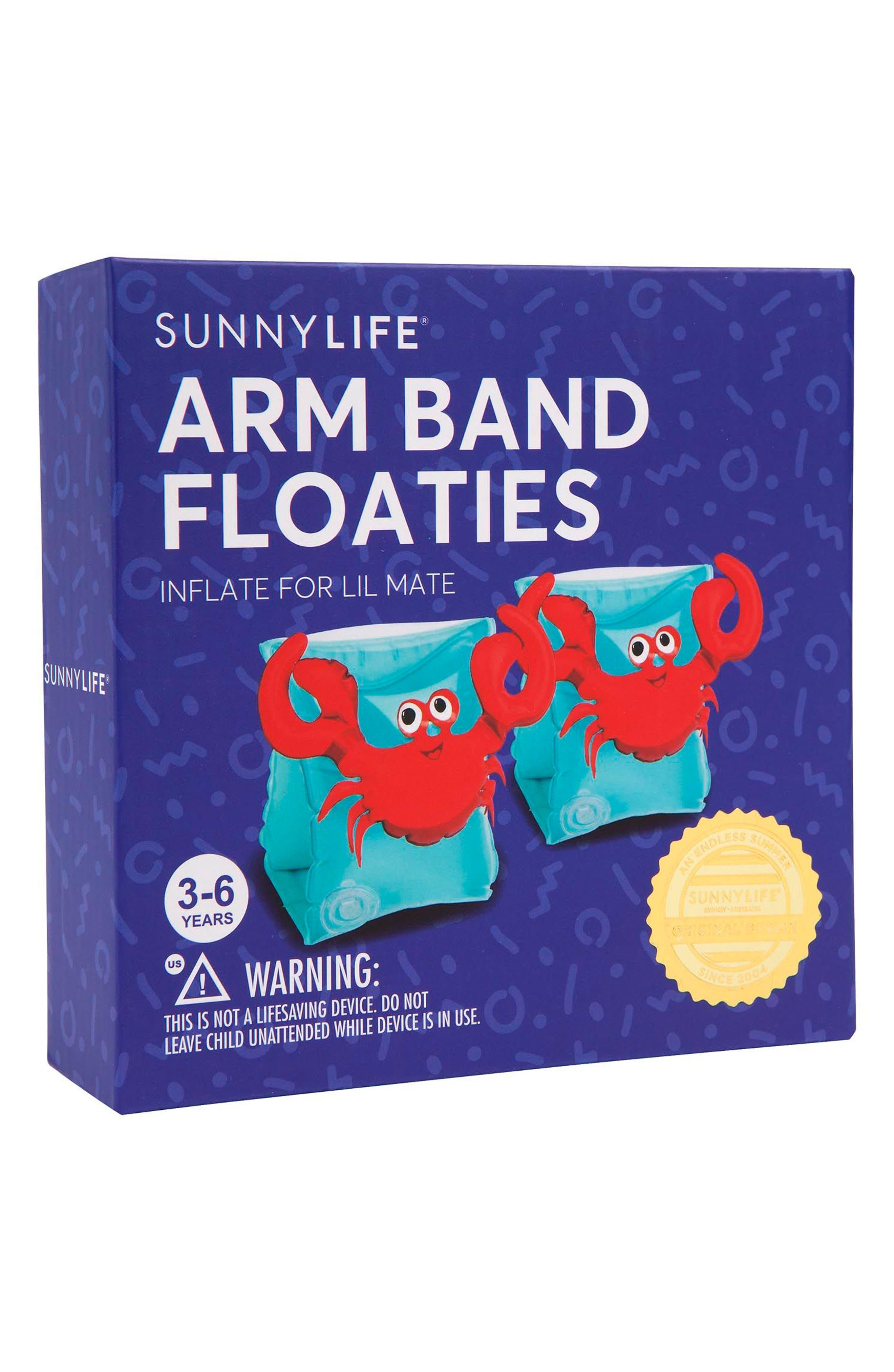 Alternate Image 2  - Sunnylife Set of 2 Crabby Armband Floaties