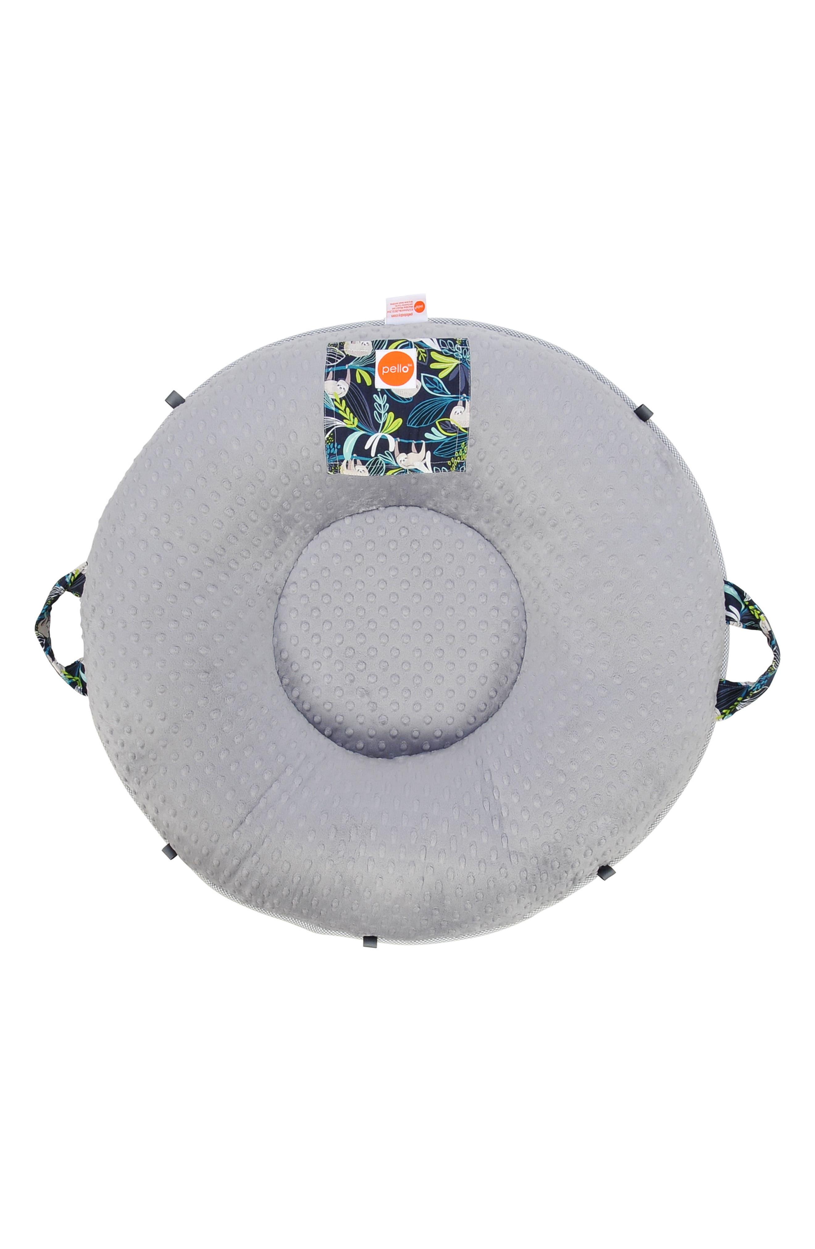 Sammy Luxe Portable Floor Pillow,                             Alternate thumbnail 3, color,                             Blue/ Gray