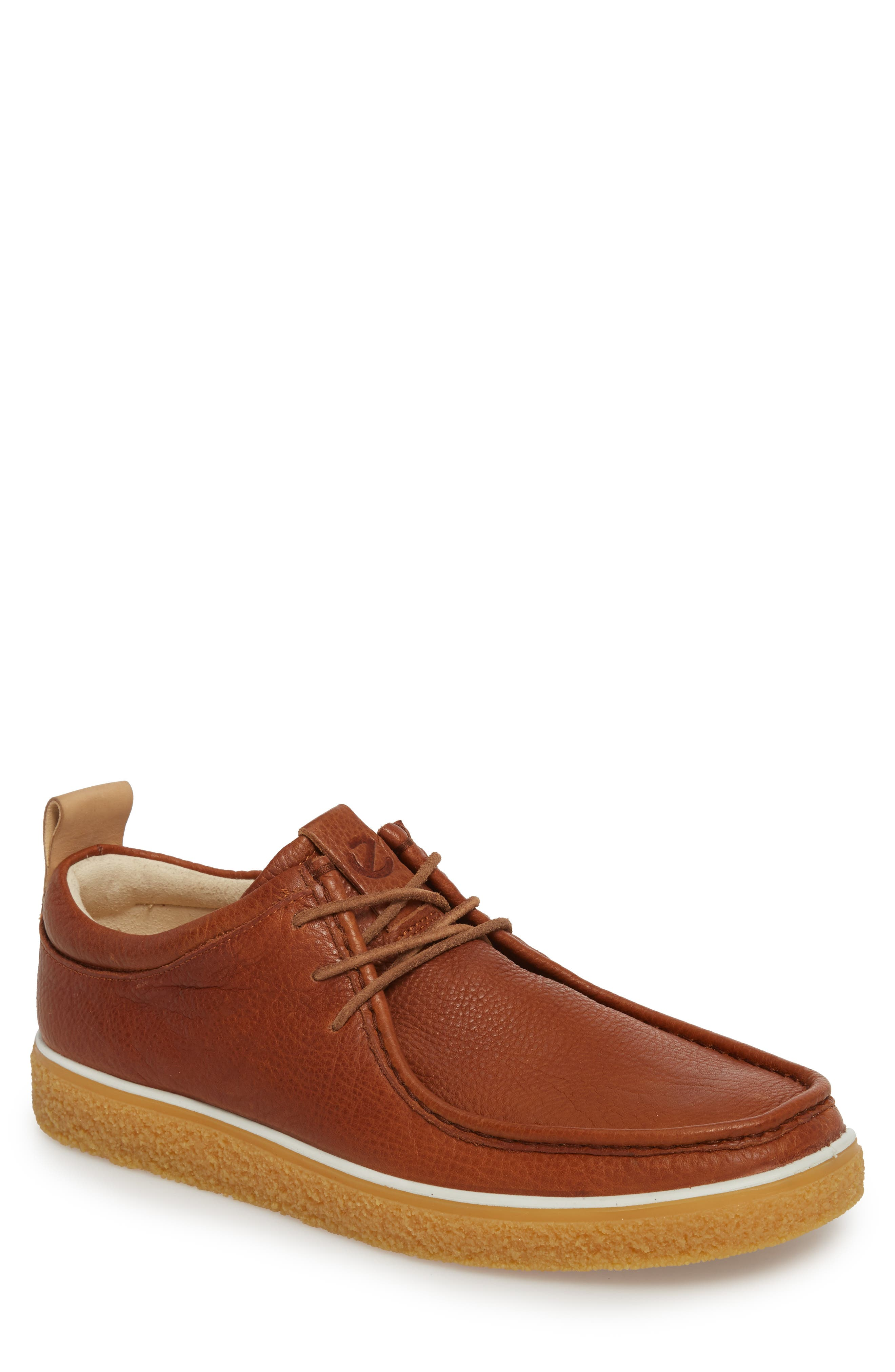Crepetray Moc Toe Lace-Up,                             Main thumbnail 1, color,                             Lion Leather