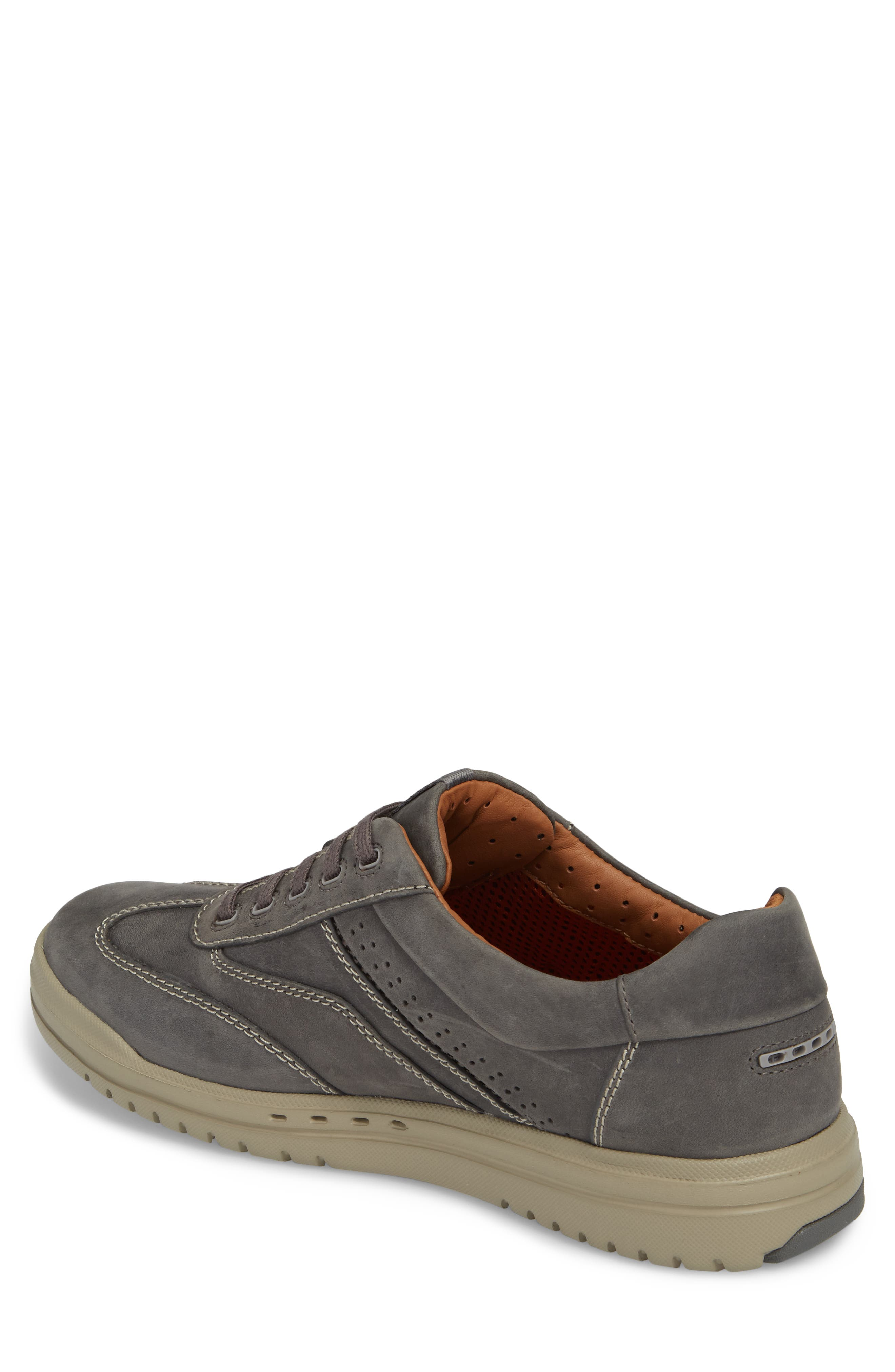 Unrhombus Low Top Sneaker,                             Alternate thumbnail 2, color,                             Dark Grey Leather