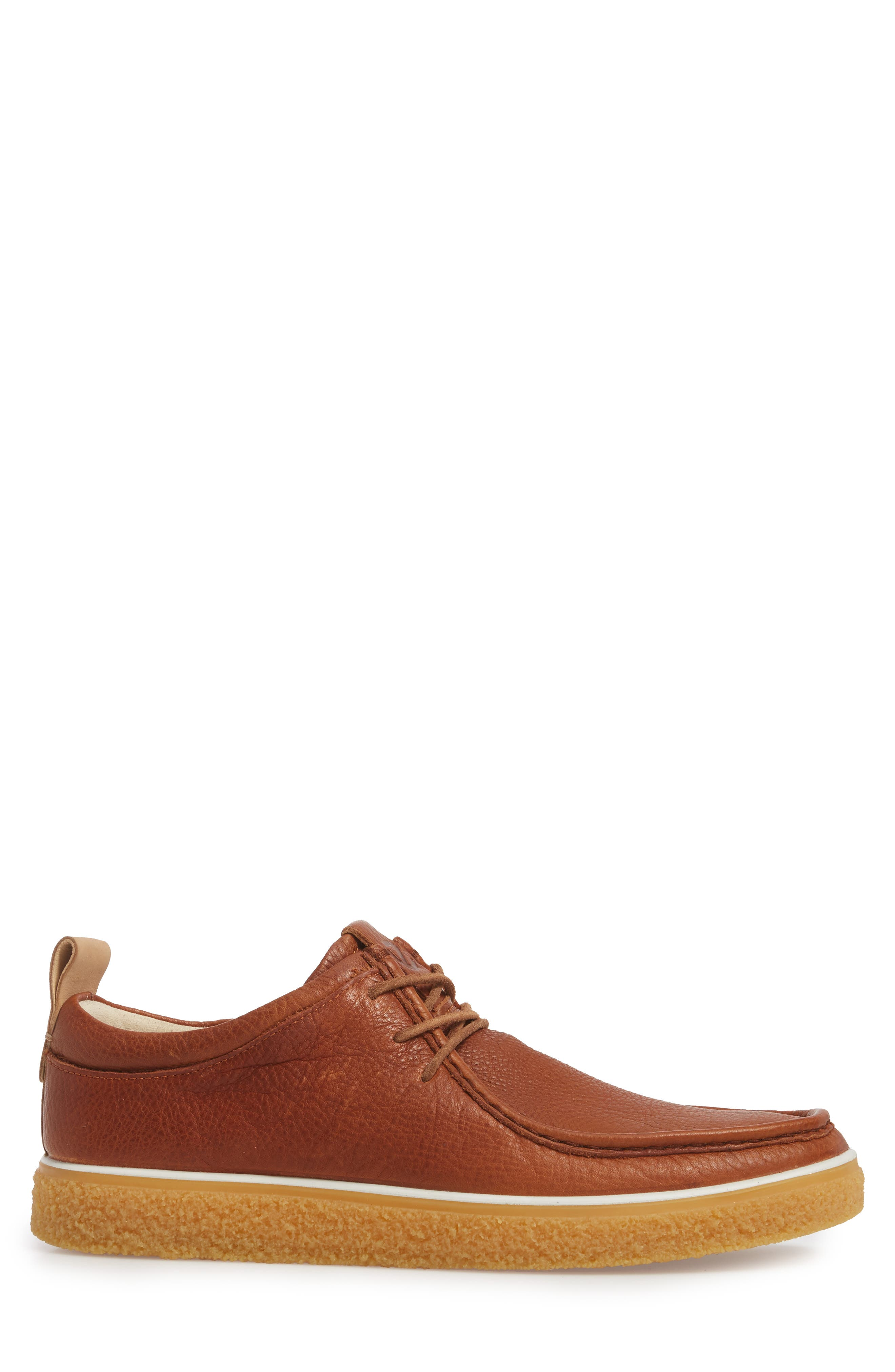 Crepetray Moc Toe Lace-Up,                             Alternate thumbnail 3, color,                             Lion Leather