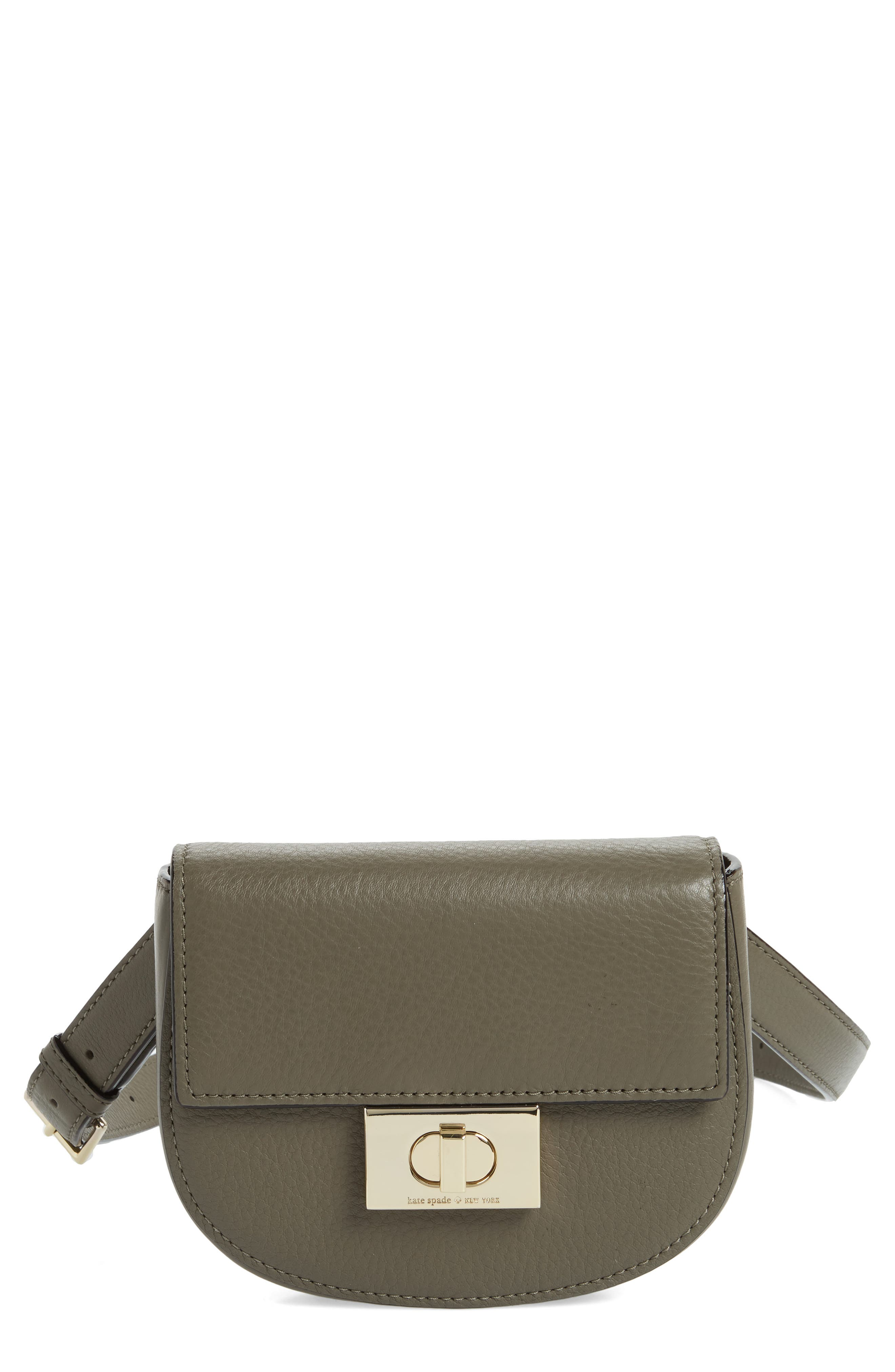 greenwood place rita leather belt bag,                         Main,                         color, Olive