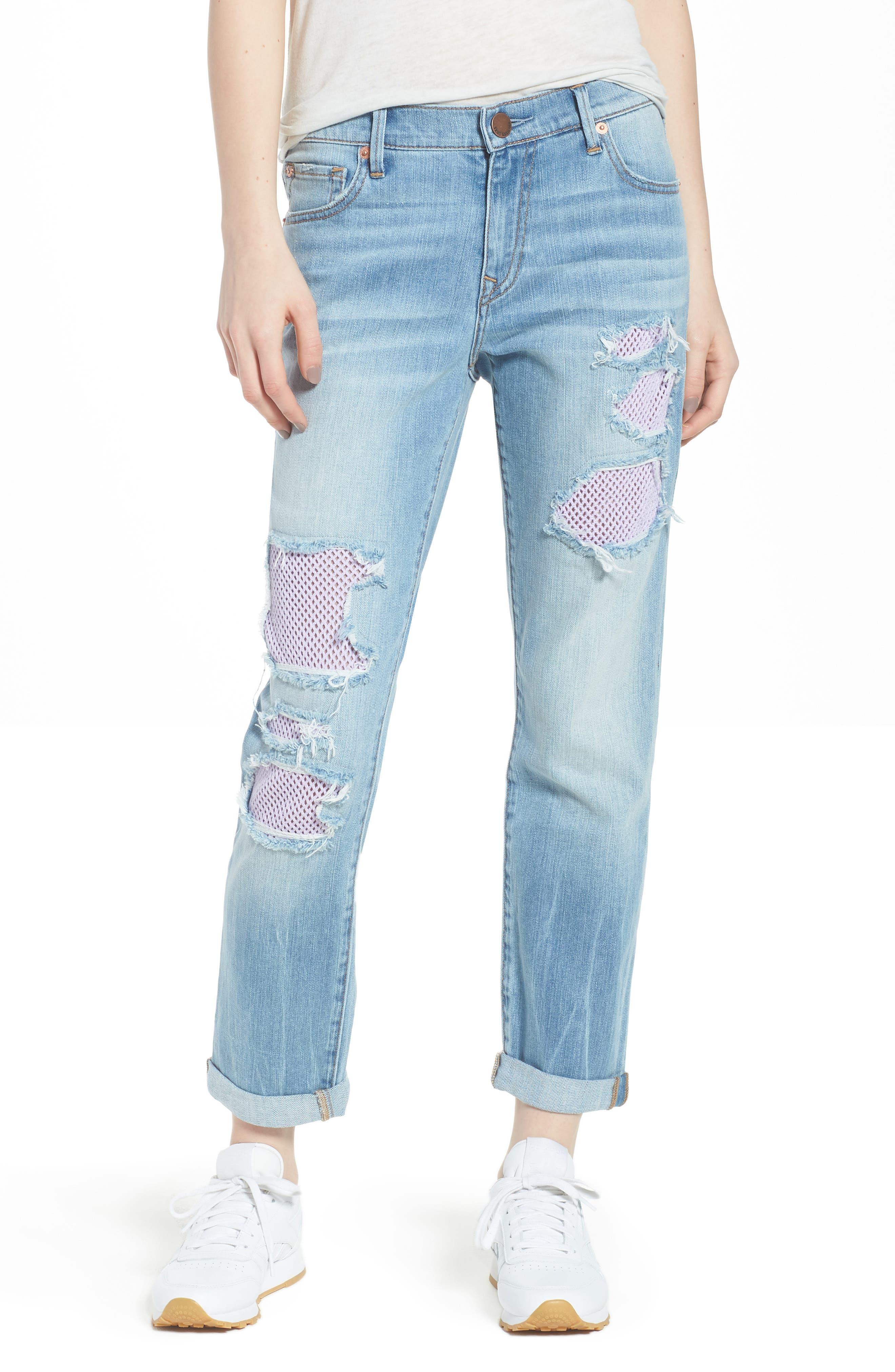 Cameron Slim Boyfriend Jeans,                             Main thumbnail 1, color,                             Esgl Second Quarter