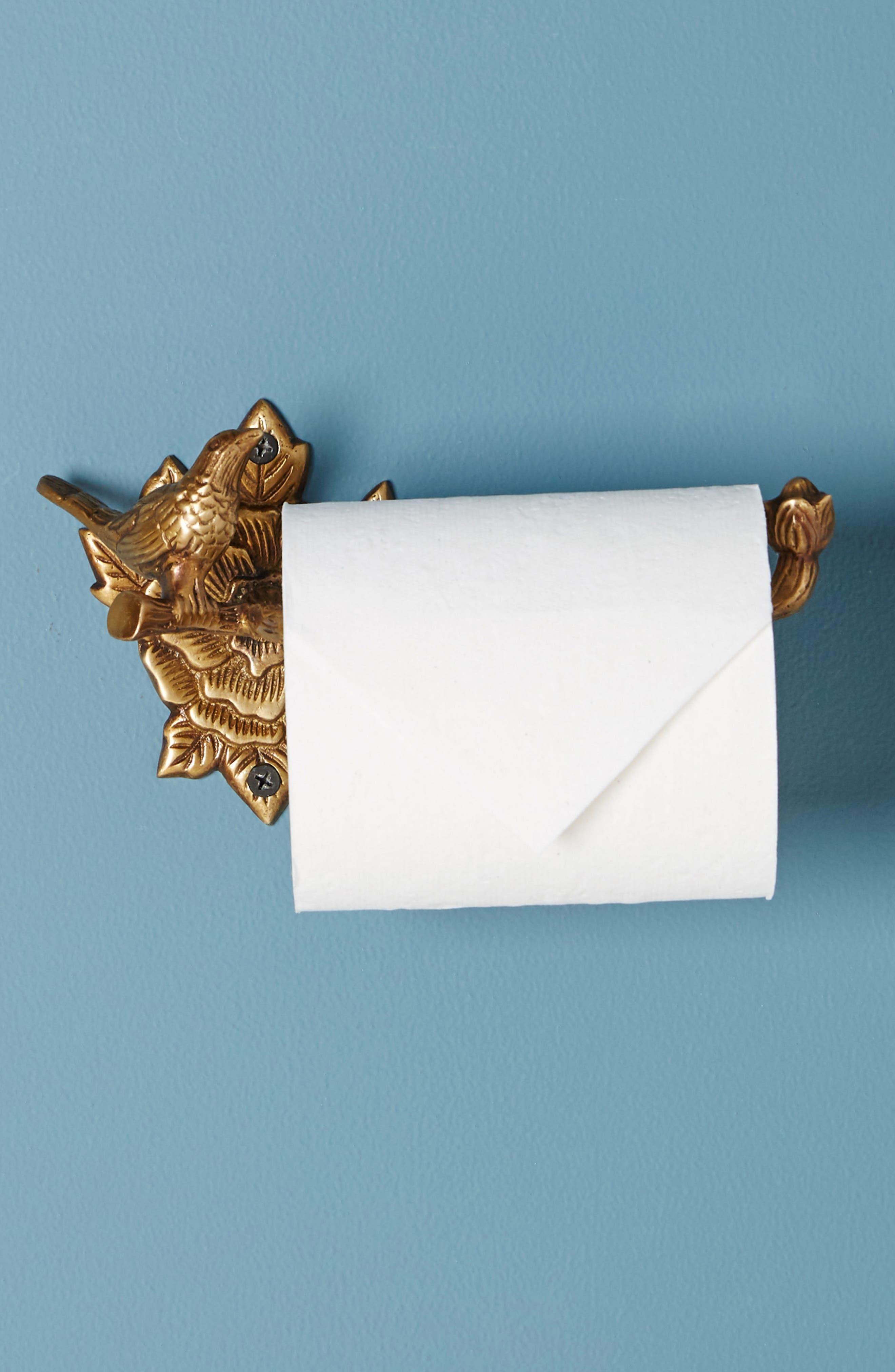 Everlee Toilet Paper Holder,                             Alternate thumbnail 3, color,                             Bronze