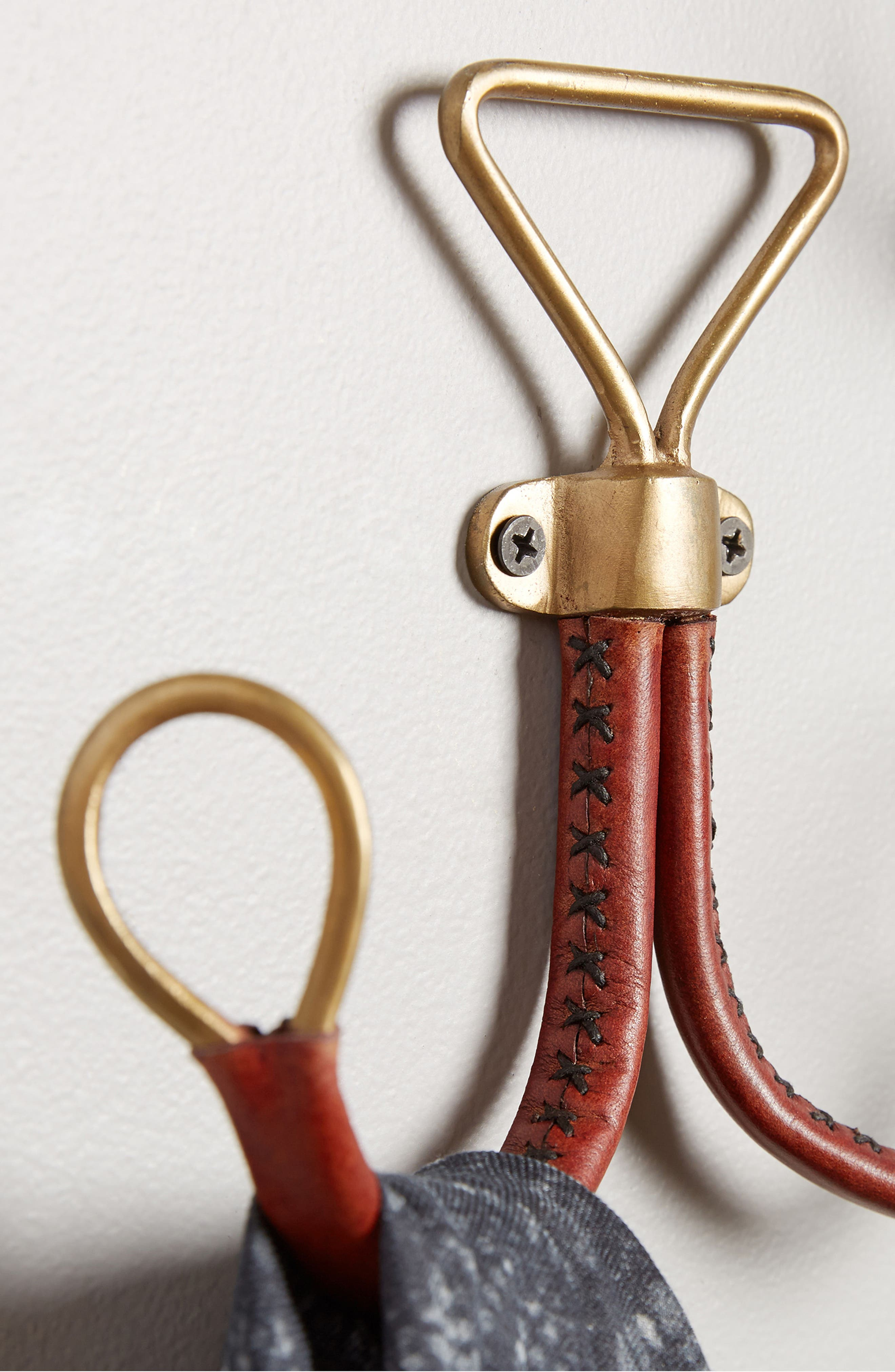Equestrian Double Hook,                             Alternate thumbnail 2, color,                             Bronze
