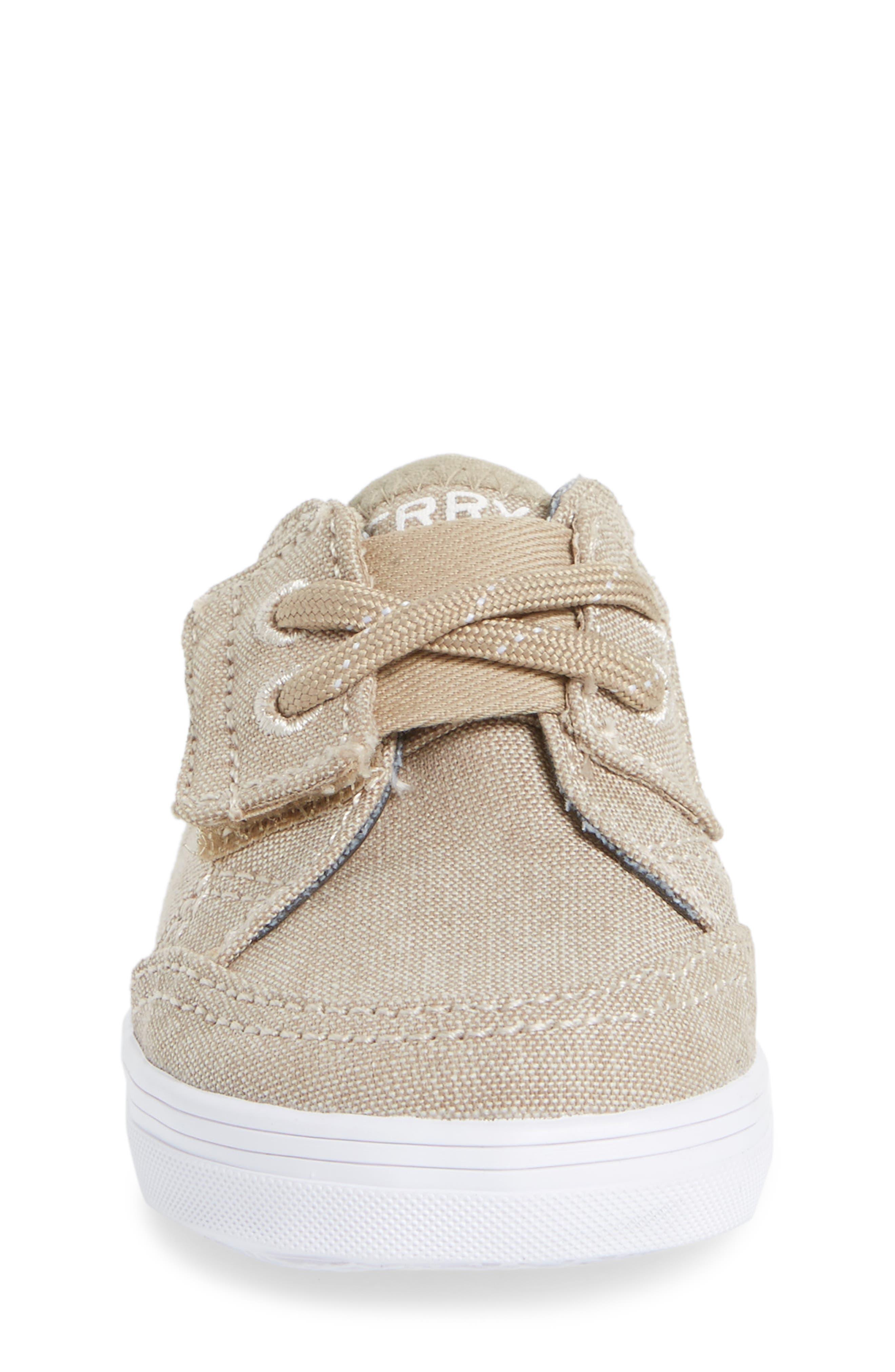 Deckfin Crib Jr. Sneaker,                             Alternate thumbnail 4, color,                             Khaki