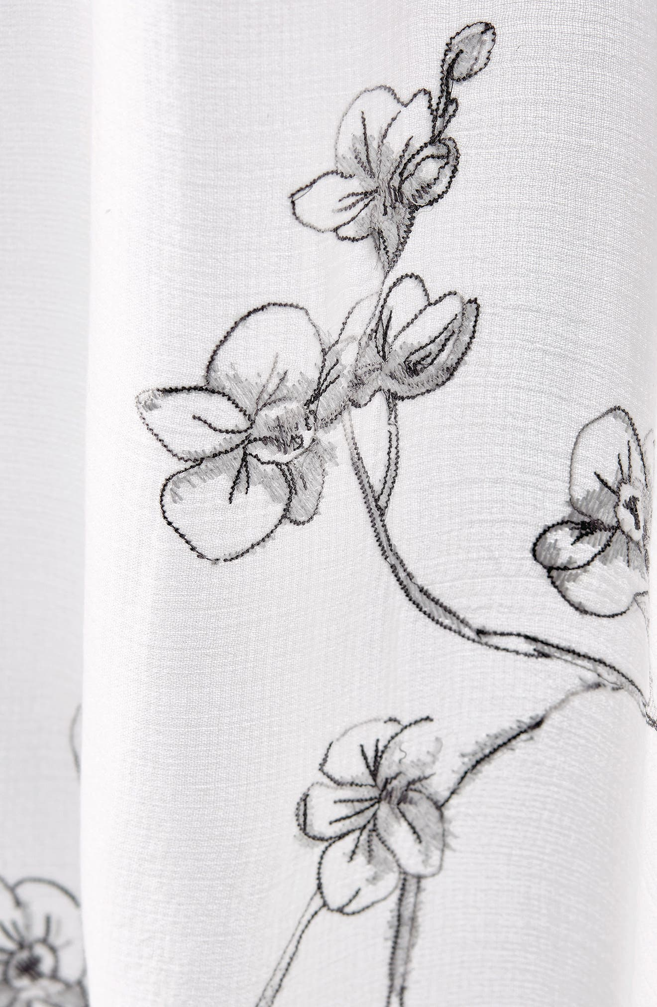 Orchid Shower Curtain,                             Alternate thumbnail 2, color,                             Grey