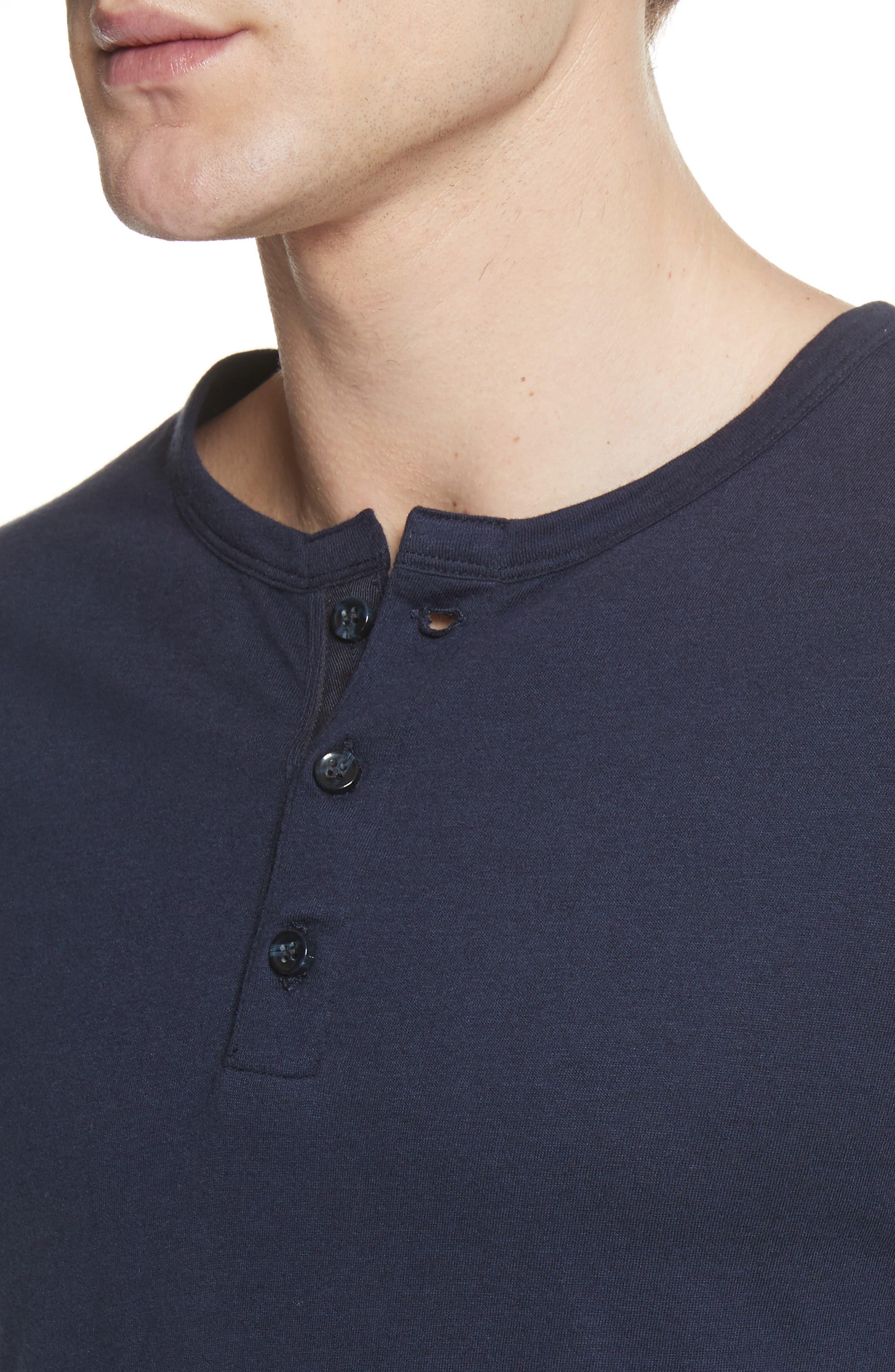 Elliott Henley T-Shirt,                             Alternate thumbnail 4, color,                             Deep Navy
