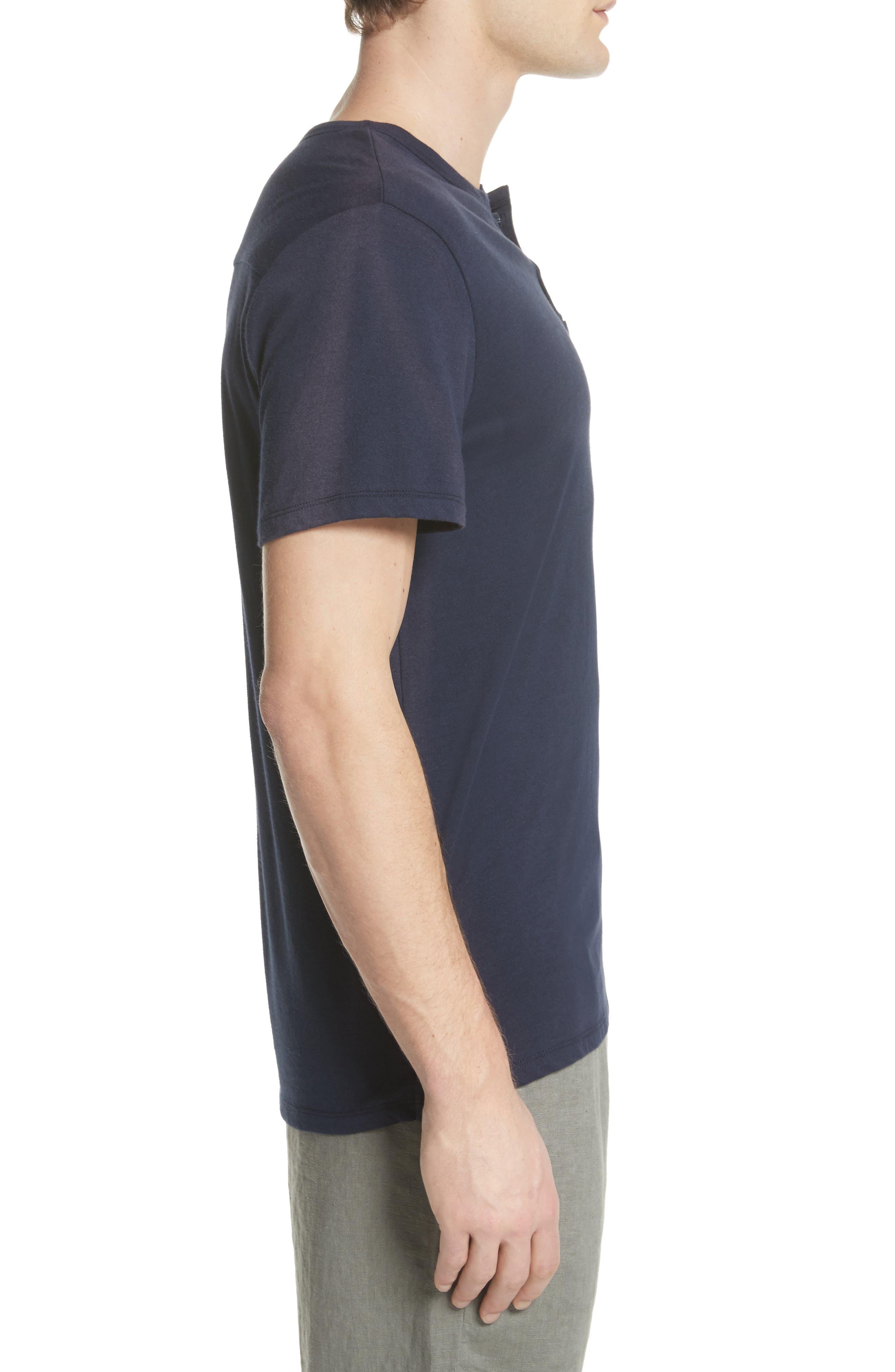 Elliott Henley T-Shirt,                             Alternate thumbnail 3, color,                             Deep Navy