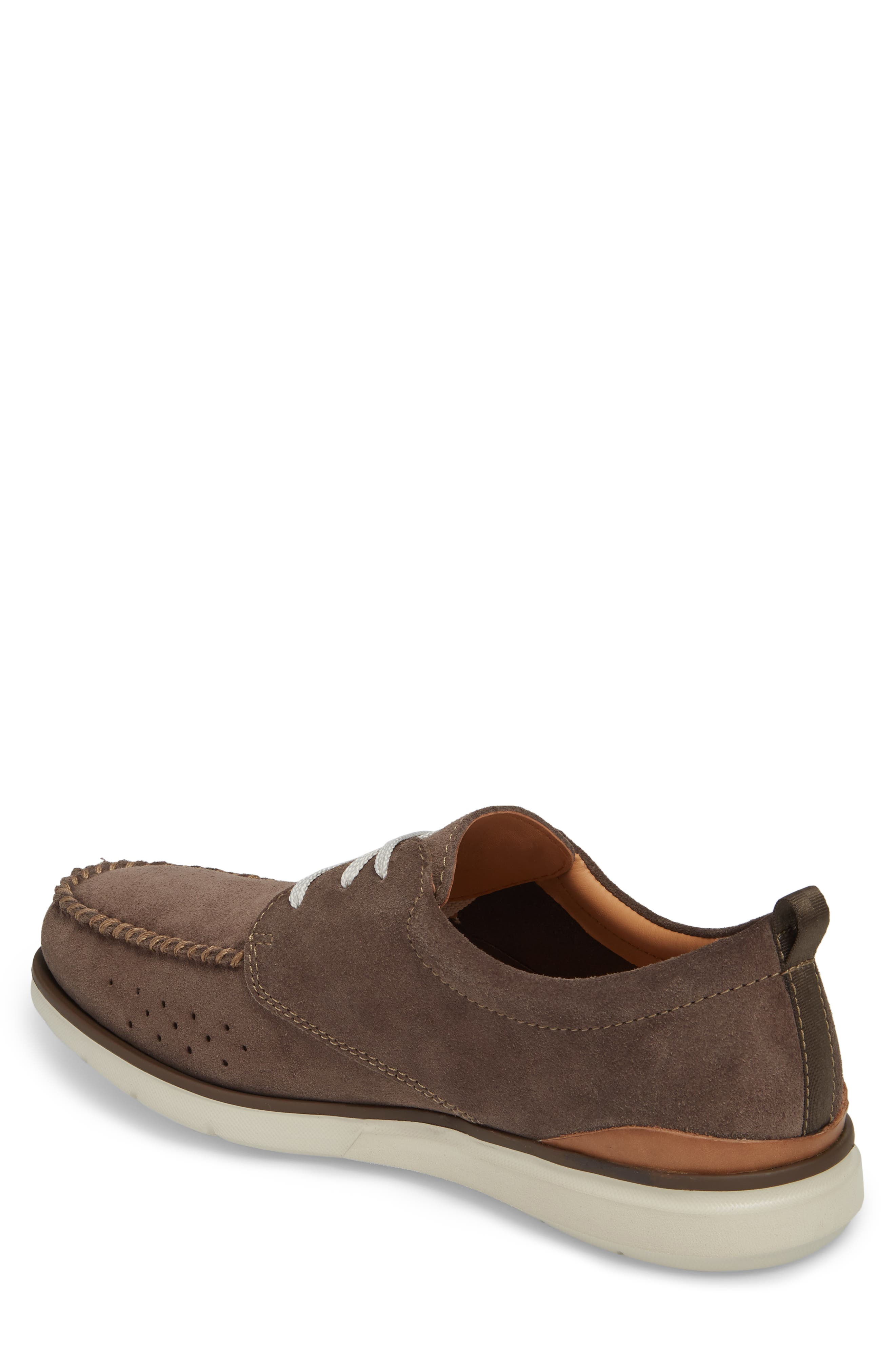 Edgewood Mix Moc Toe Derby,                             Alternate thumbnail 2, color,                             Taupe Suede