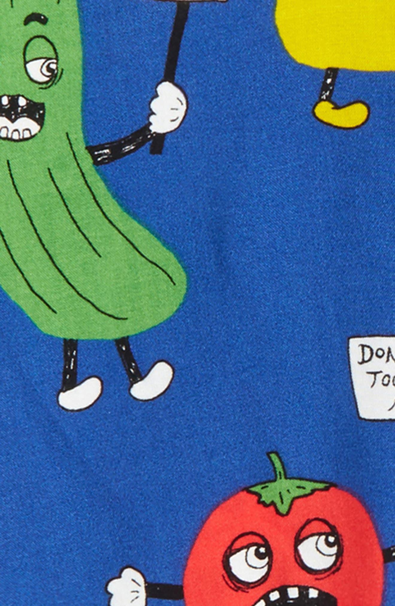 Veggie Print Woven Shirt,                             Alternate thumbnail 3, color,                             Blue