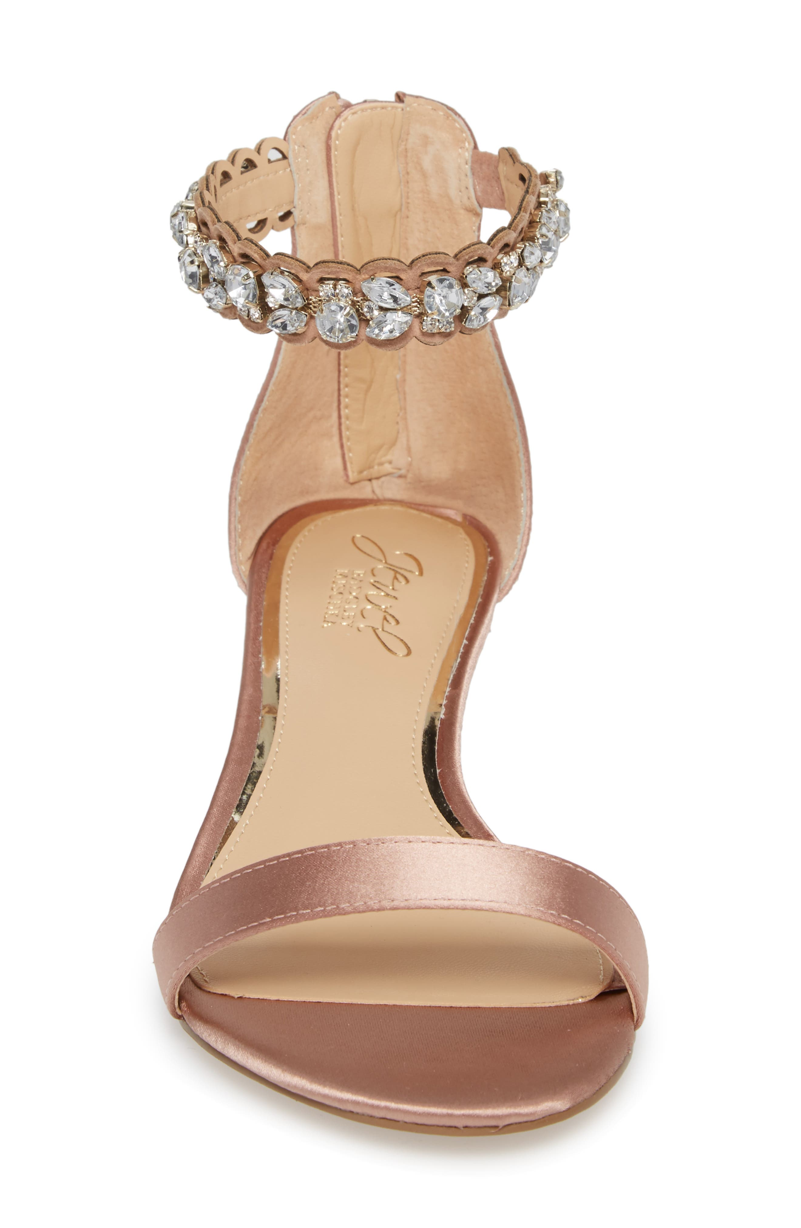 Ginger Wedge Sandal,                             Alternate thumbnail 4, color,                             Dark Blush