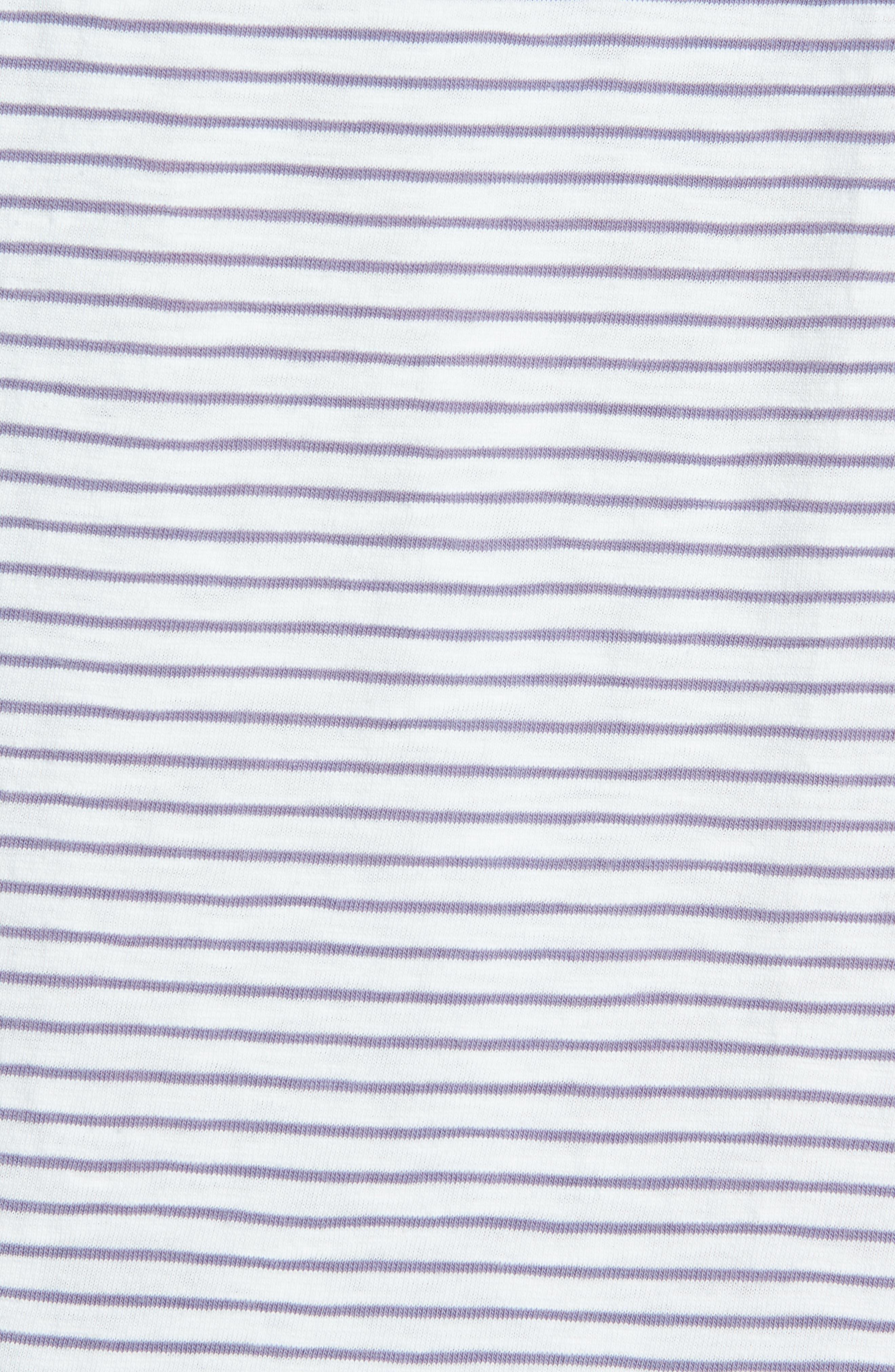 Malaga Cove Stripe T-Shirt,                             Alternate thumbnail 5, color,                             Antique White