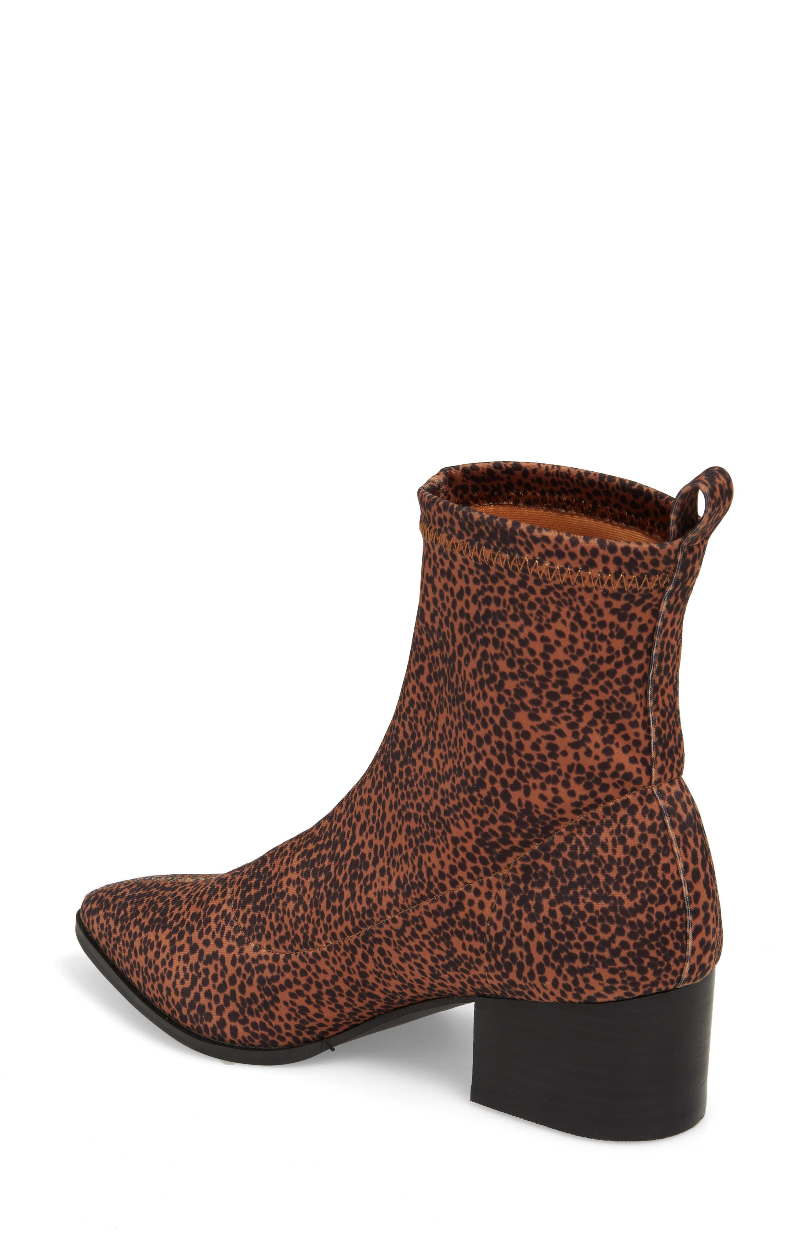 Amuse Society x Matisse Liliana Sock Bootie,                             Alternate thumbnail 2, color,                             Brown Stretch Fabric