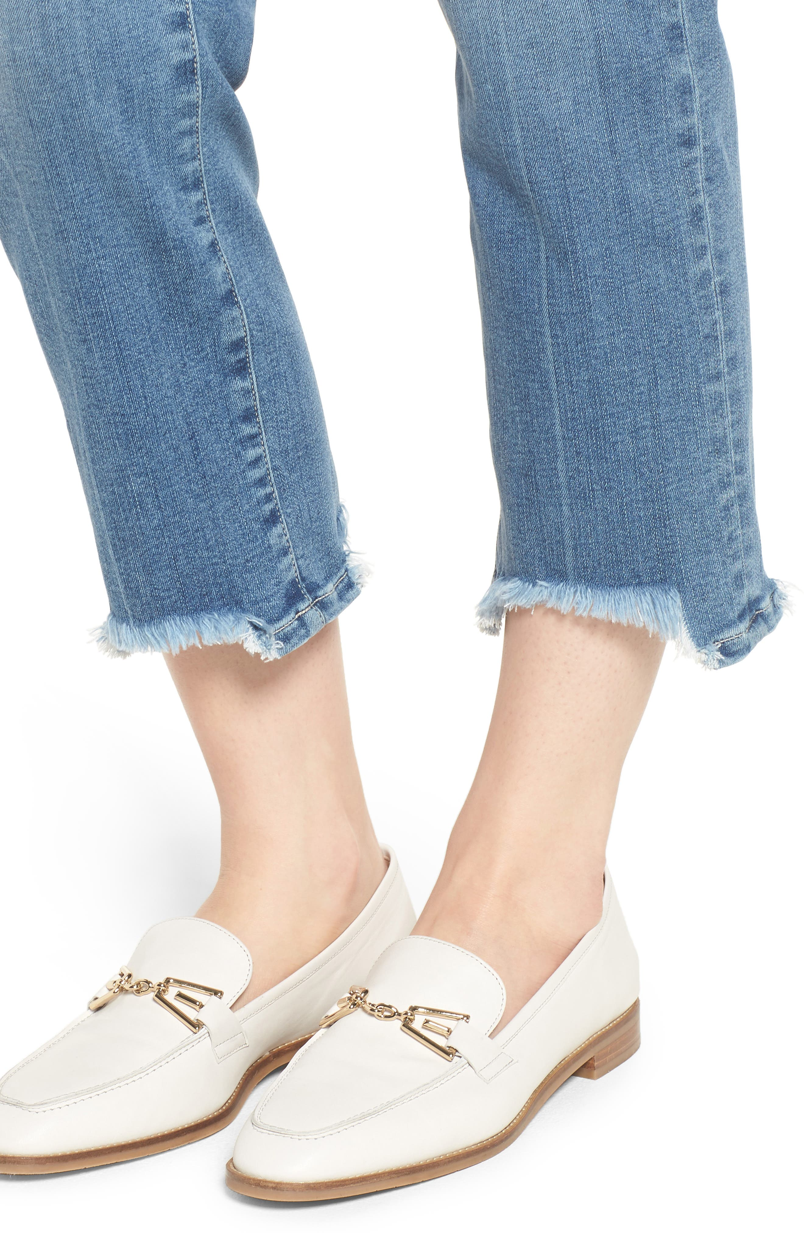 Transcend Vintage - Hoxton High Waist Crop Straight Leg Jeans,                             Alternate thumbnail 4, color,                             Zahara