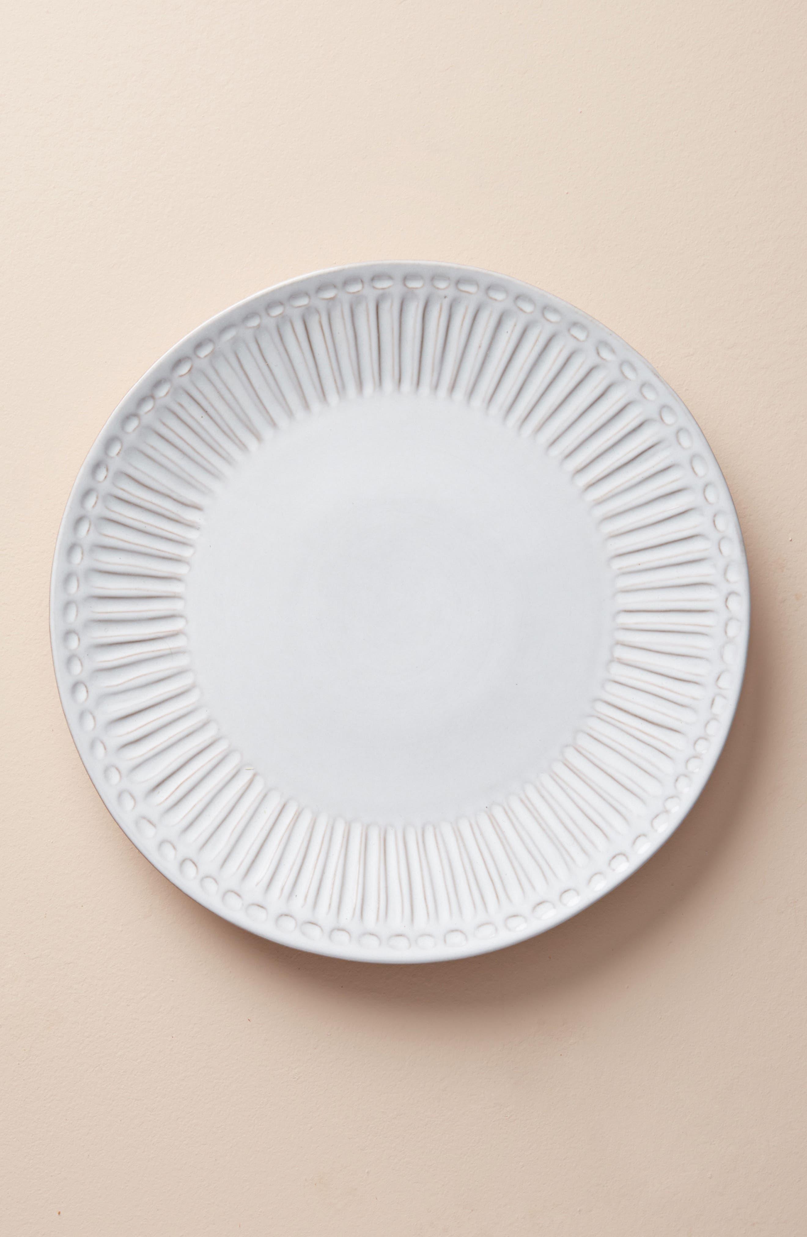 Elana Dinner Plate,                             Main thumbnail 1, color,                             White