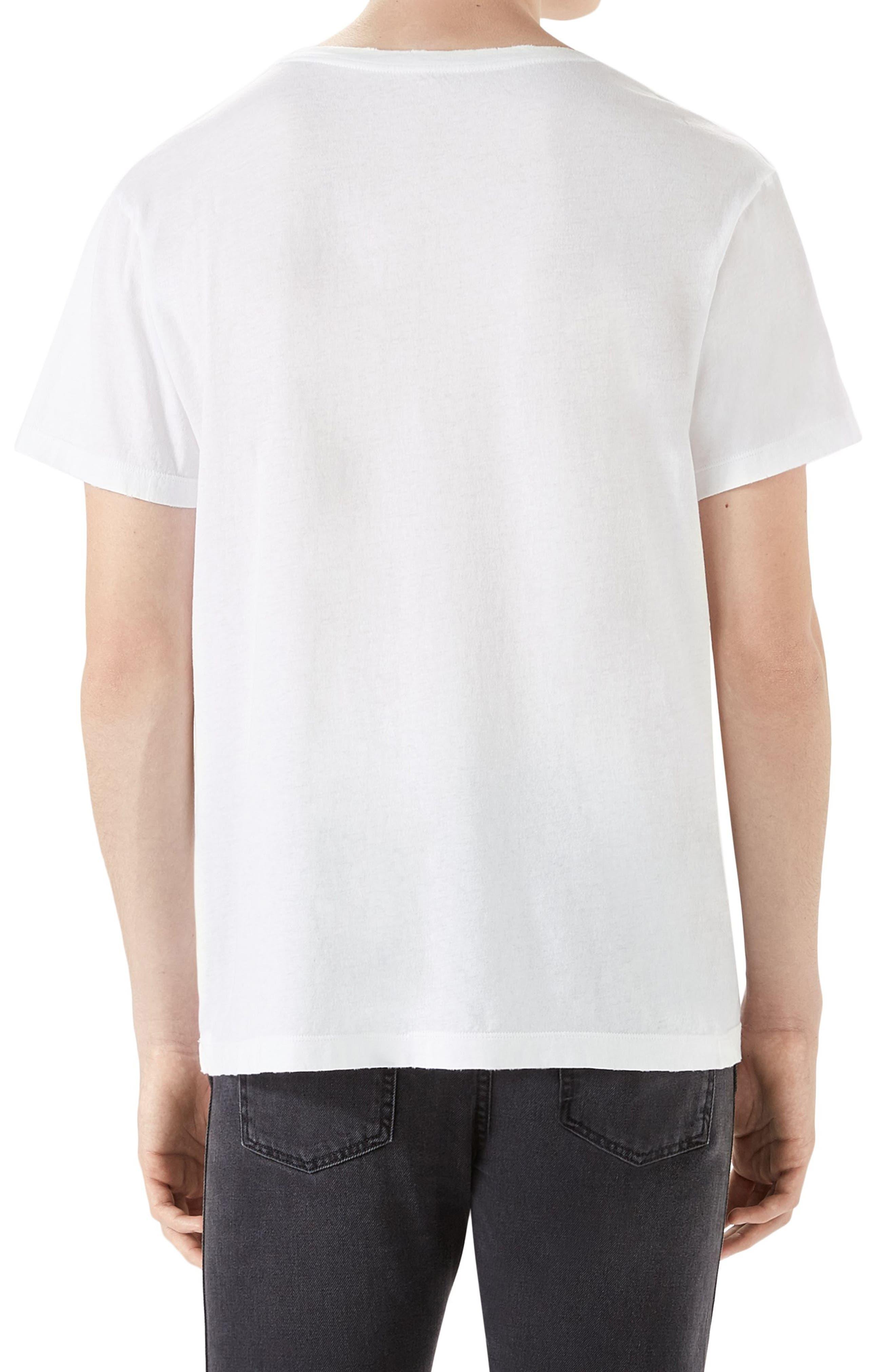 Ouroboros Logo Graphic T-Shirt,                             Alternate thumbnail 2, color,                             White