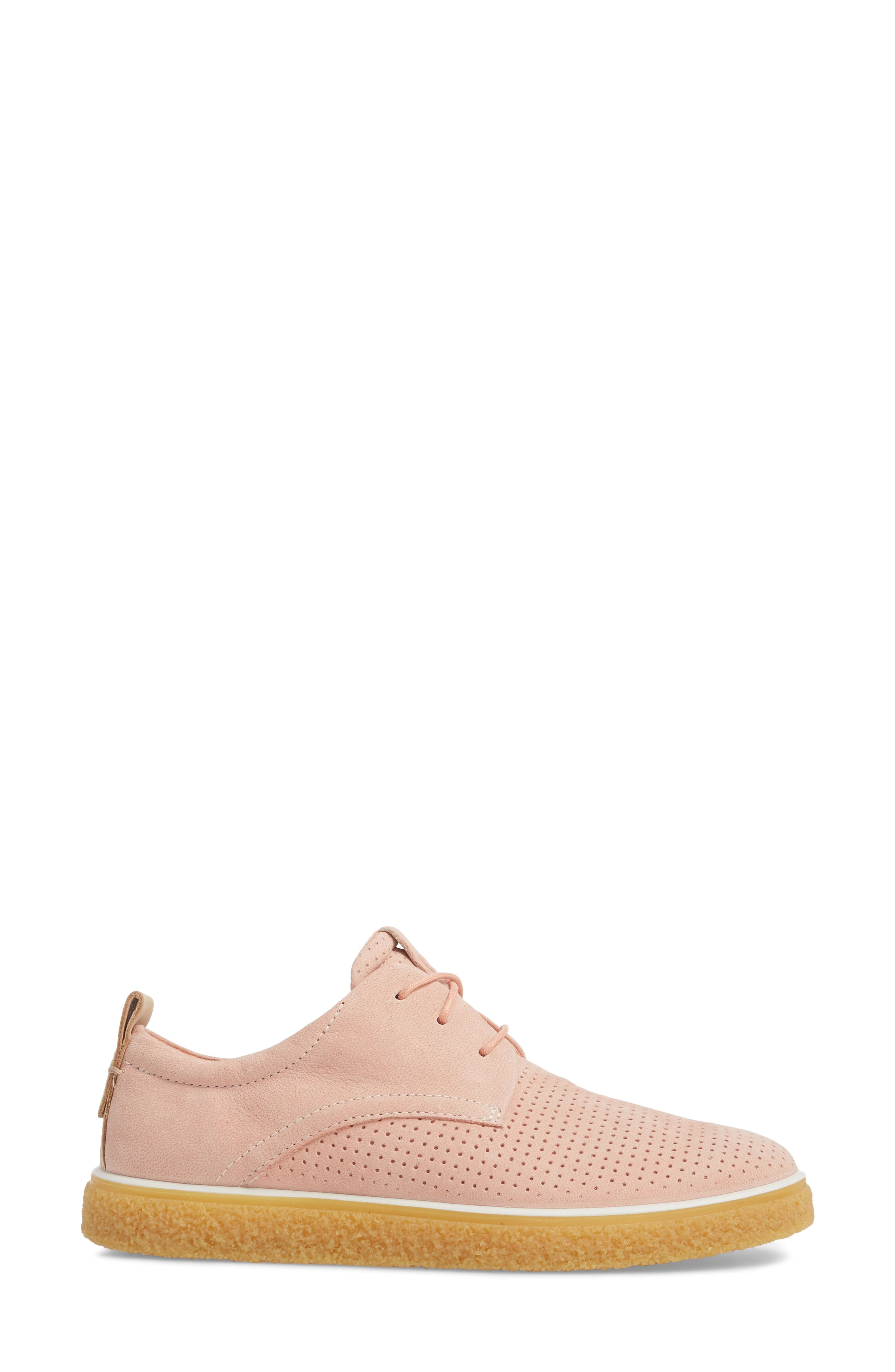 Crepetray Sneaker,                             Alternate thumbnail 3, color,                             Muted Clay Powder Leather