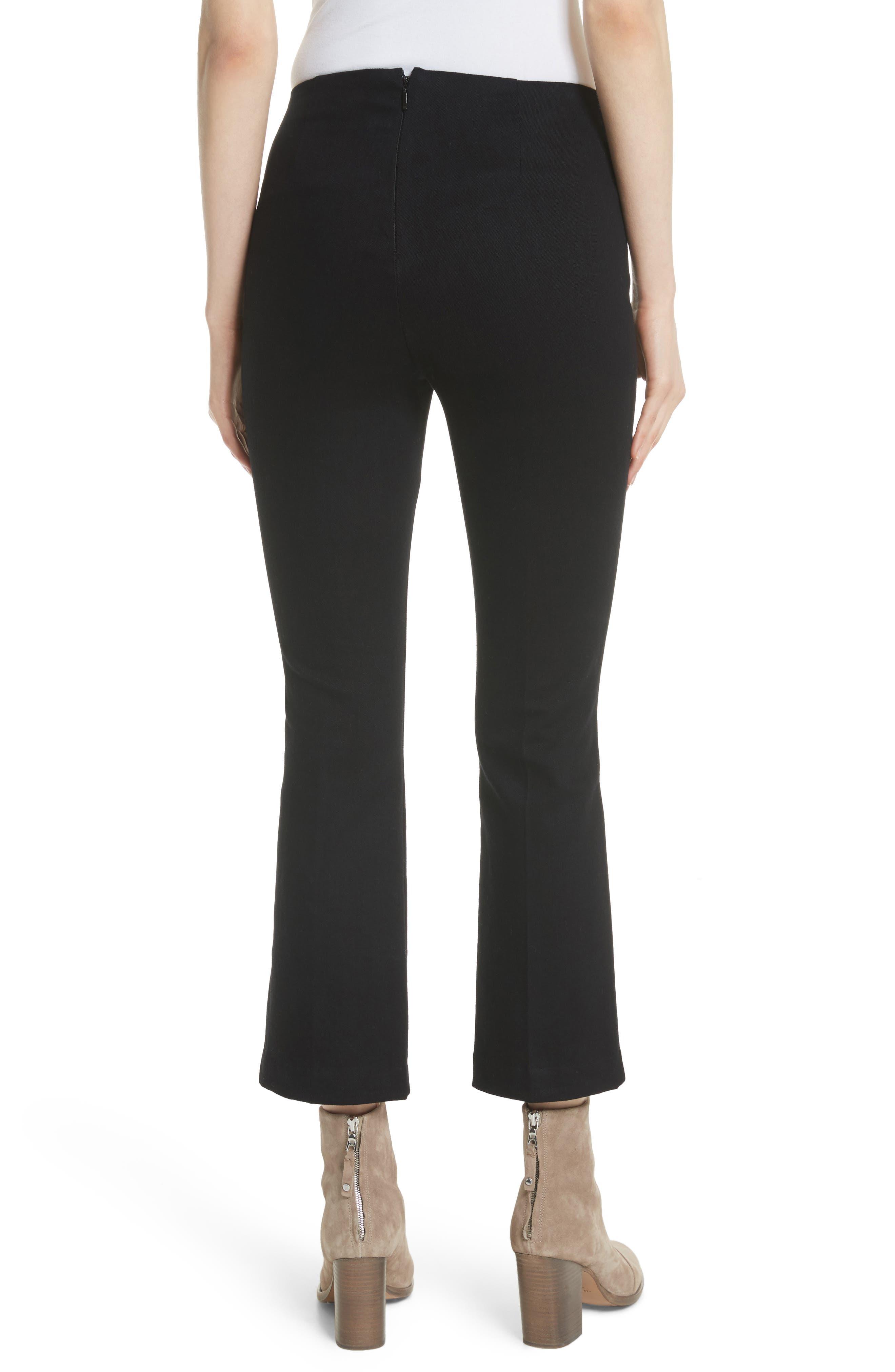 Hina High Rise Crop Pants,                             Alternate thumbnail 2, color,                             Black