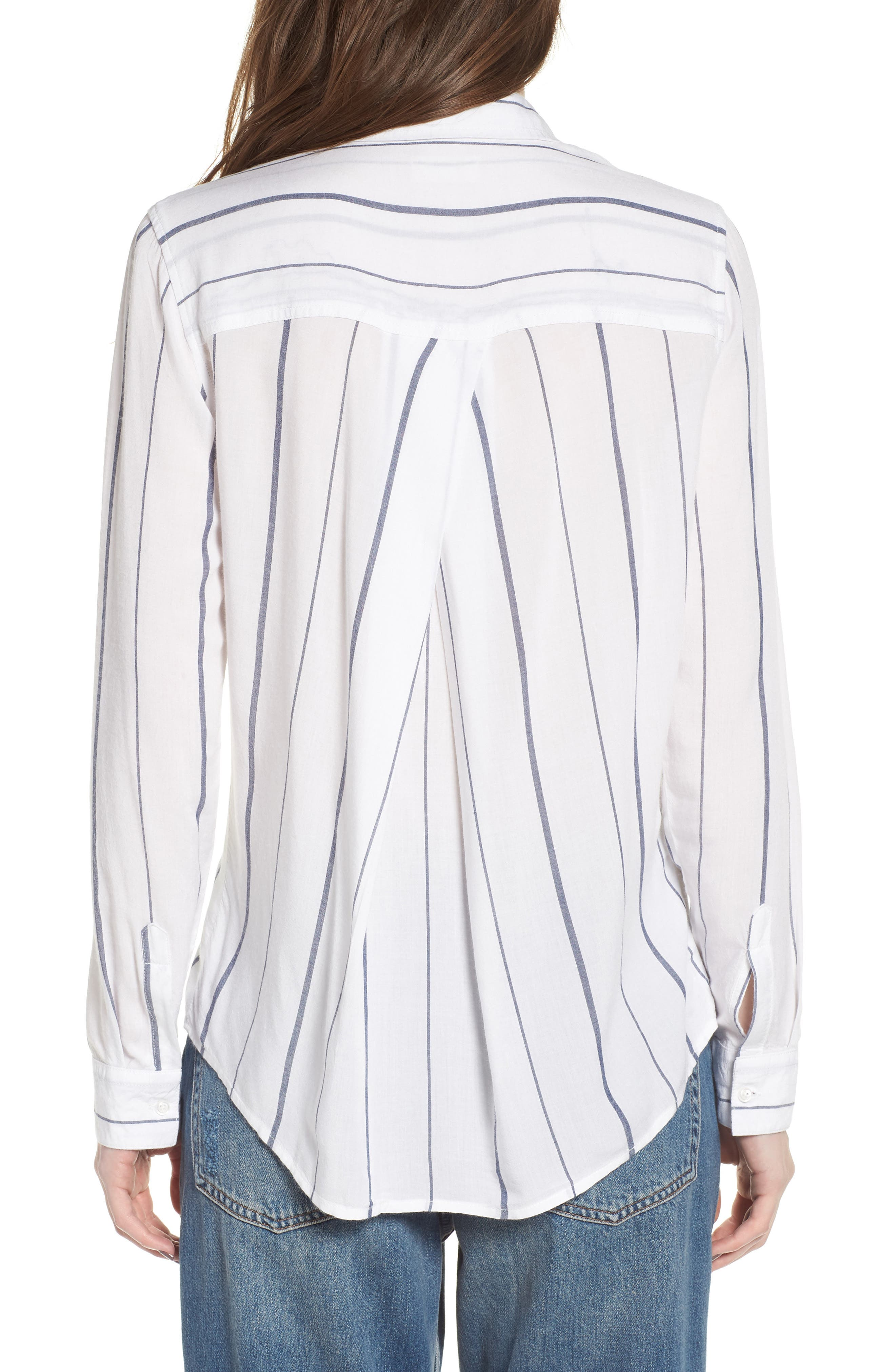 Canyons Stripe Shirt,                             Alternate thumbnail 2, color,                             White/ Navy Stripe