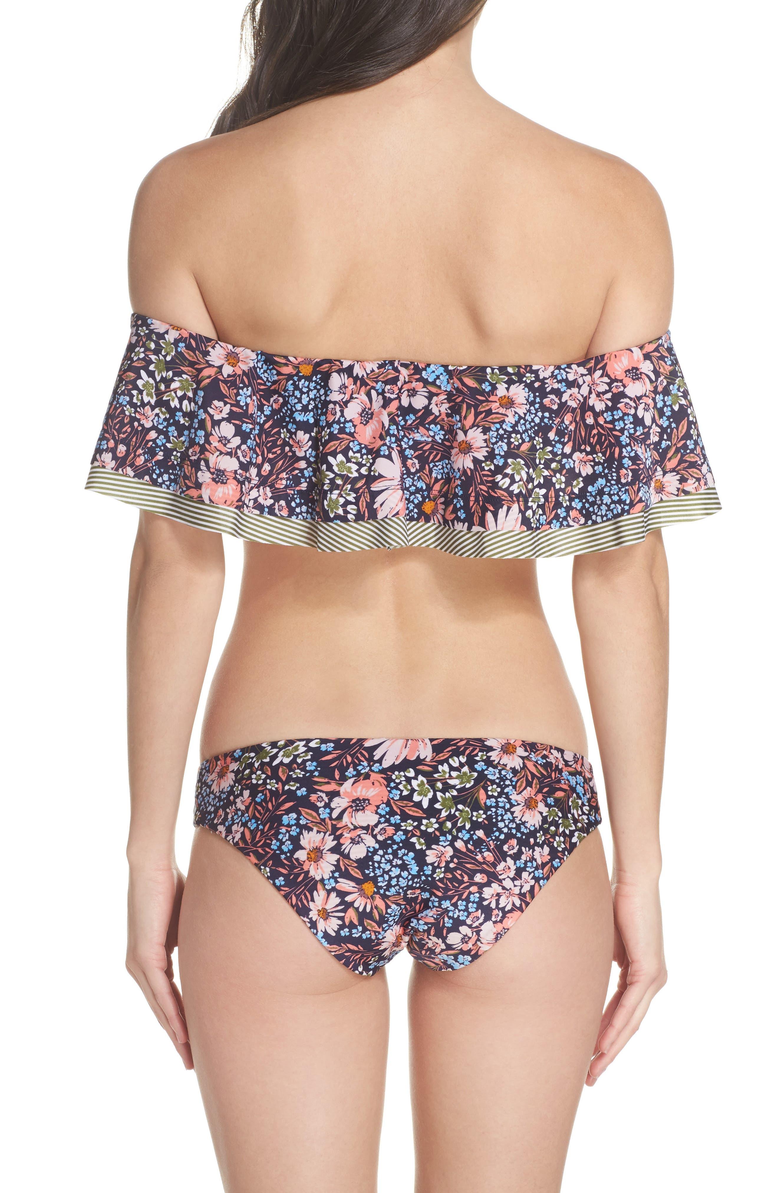 Enchanted Reversible Bikini Bottoms,                             Alternate thumbnail 7, color,                             Olive Multi