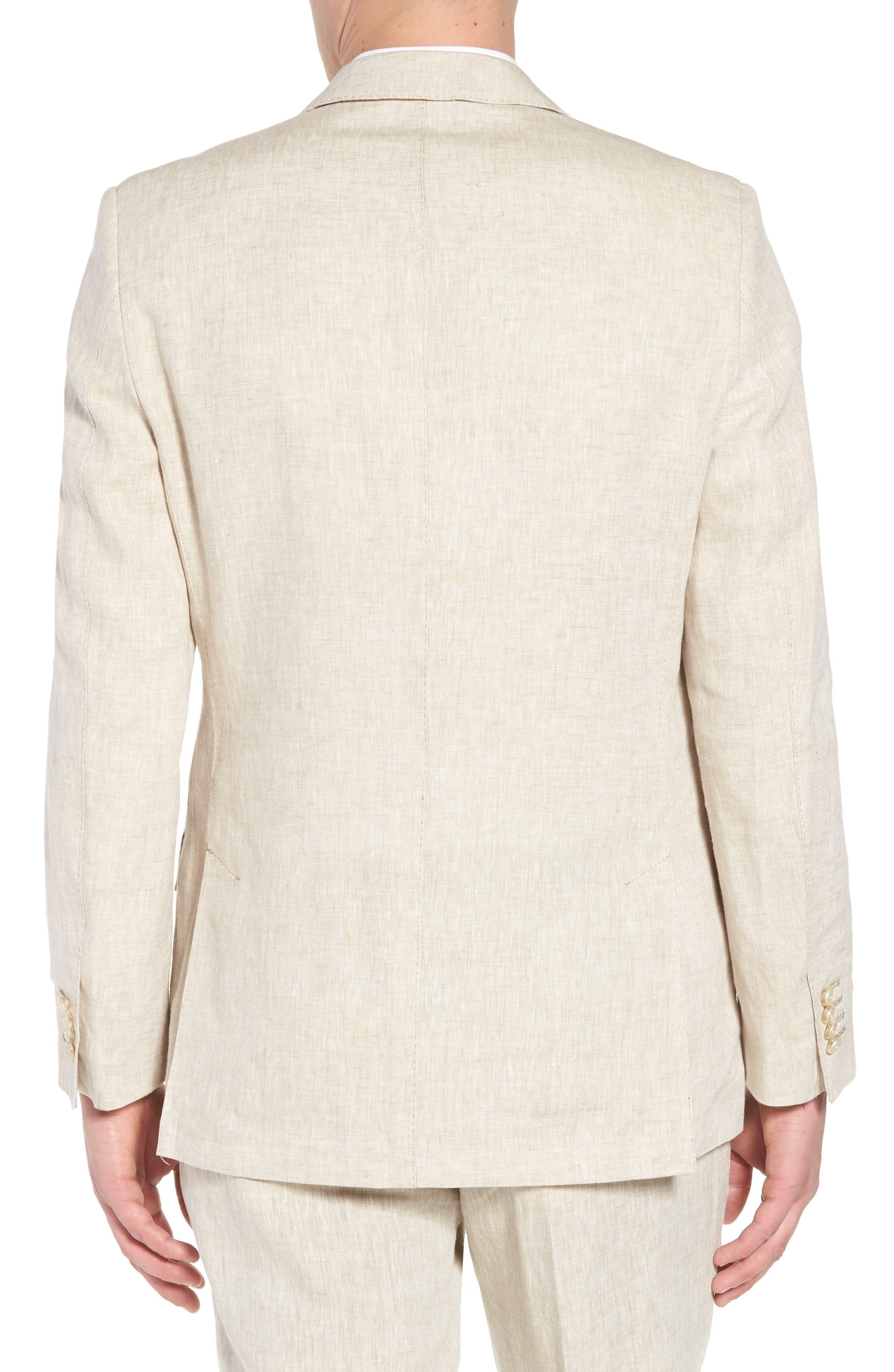 Jack AIM Classic Fit Linen Blazer,                             Alternate thumbnail 2, color,                             Natural