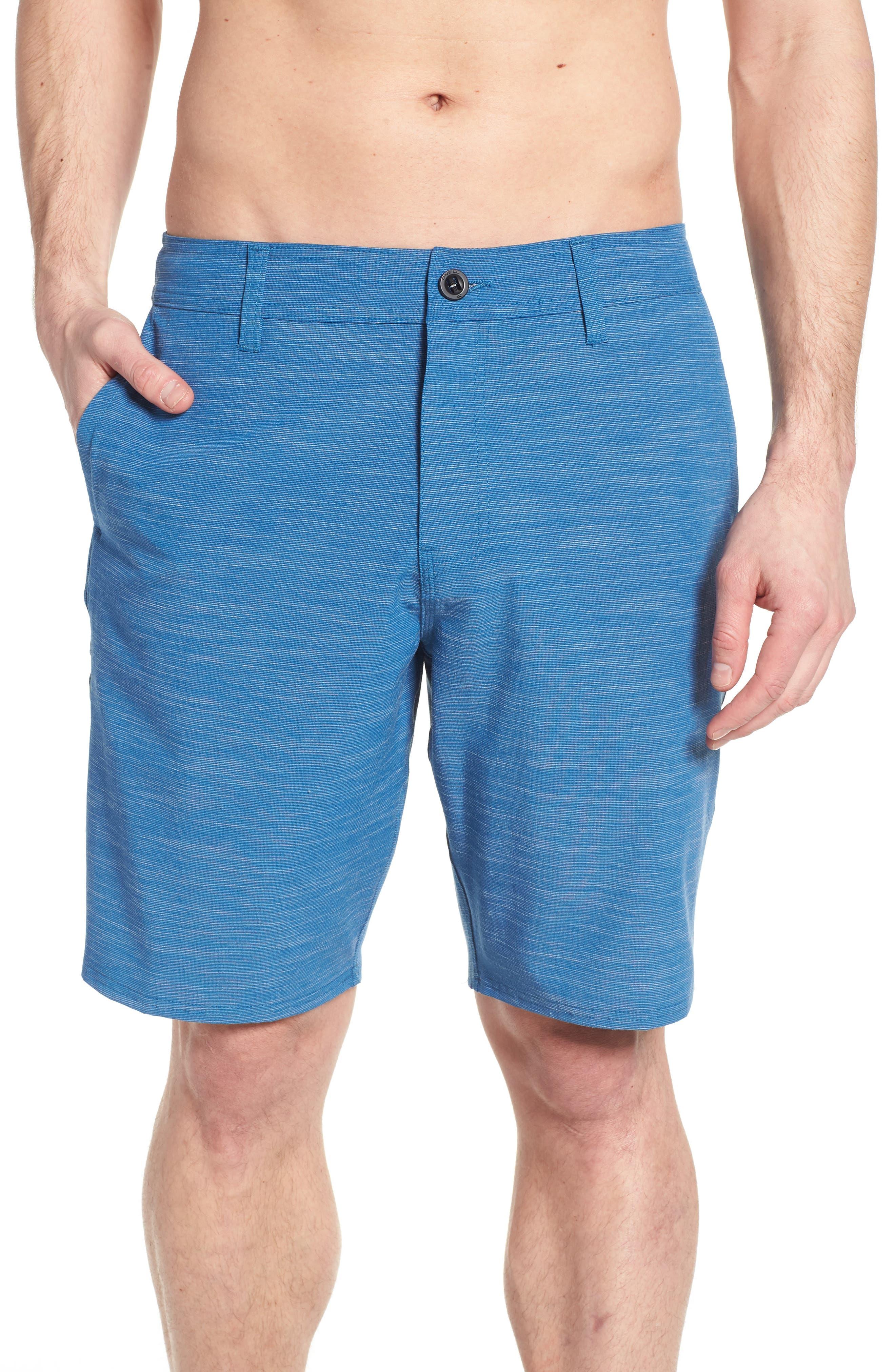 Locked Slub Hybrid Shorts,                             Alternate thumbnail 4, color,                             Air Force Blue