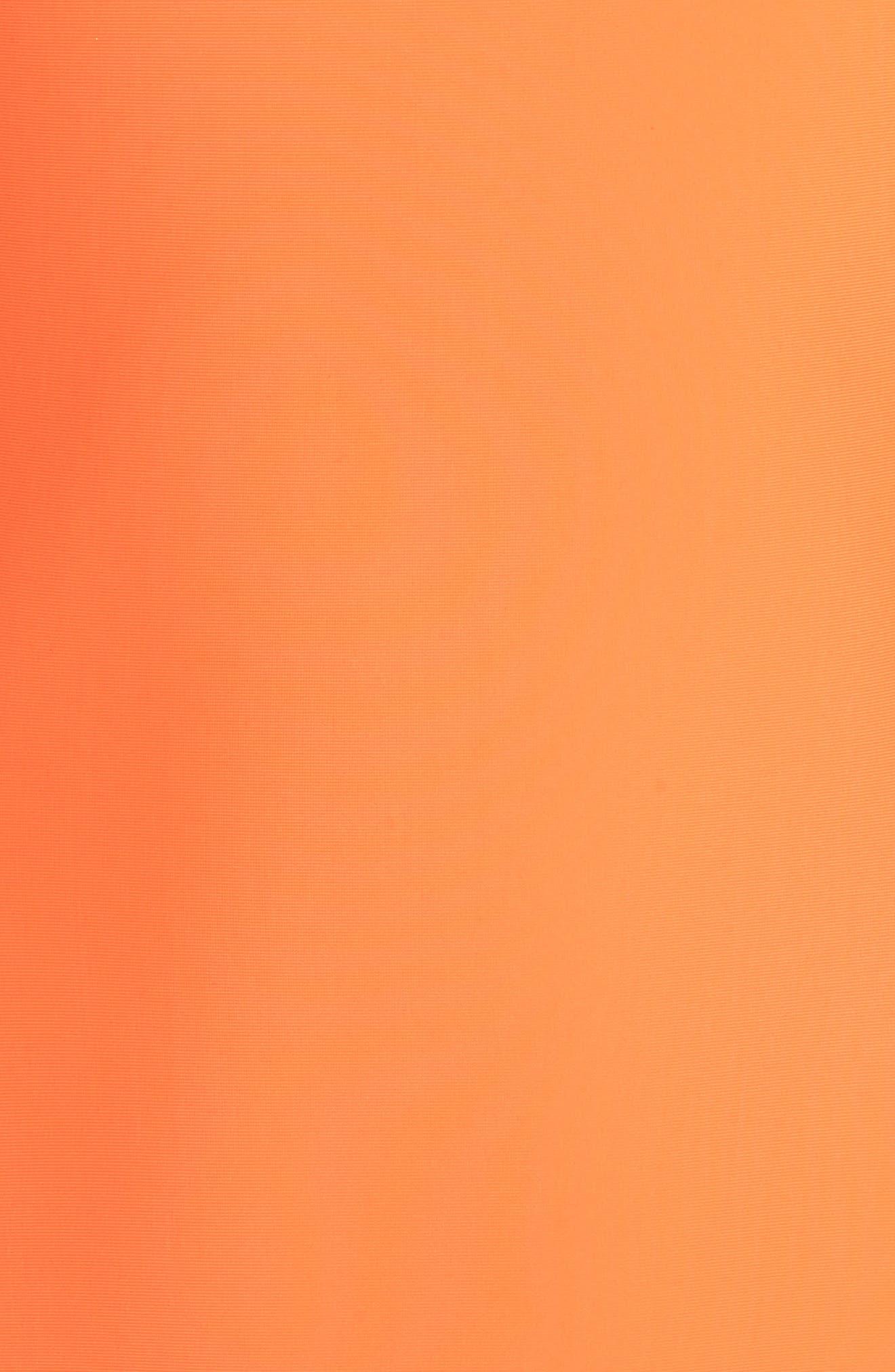 Amelia Strappy Back One-Piece Swimsuit,                             Alternate thumbnail 5, color,                             Neon Lava Orange
