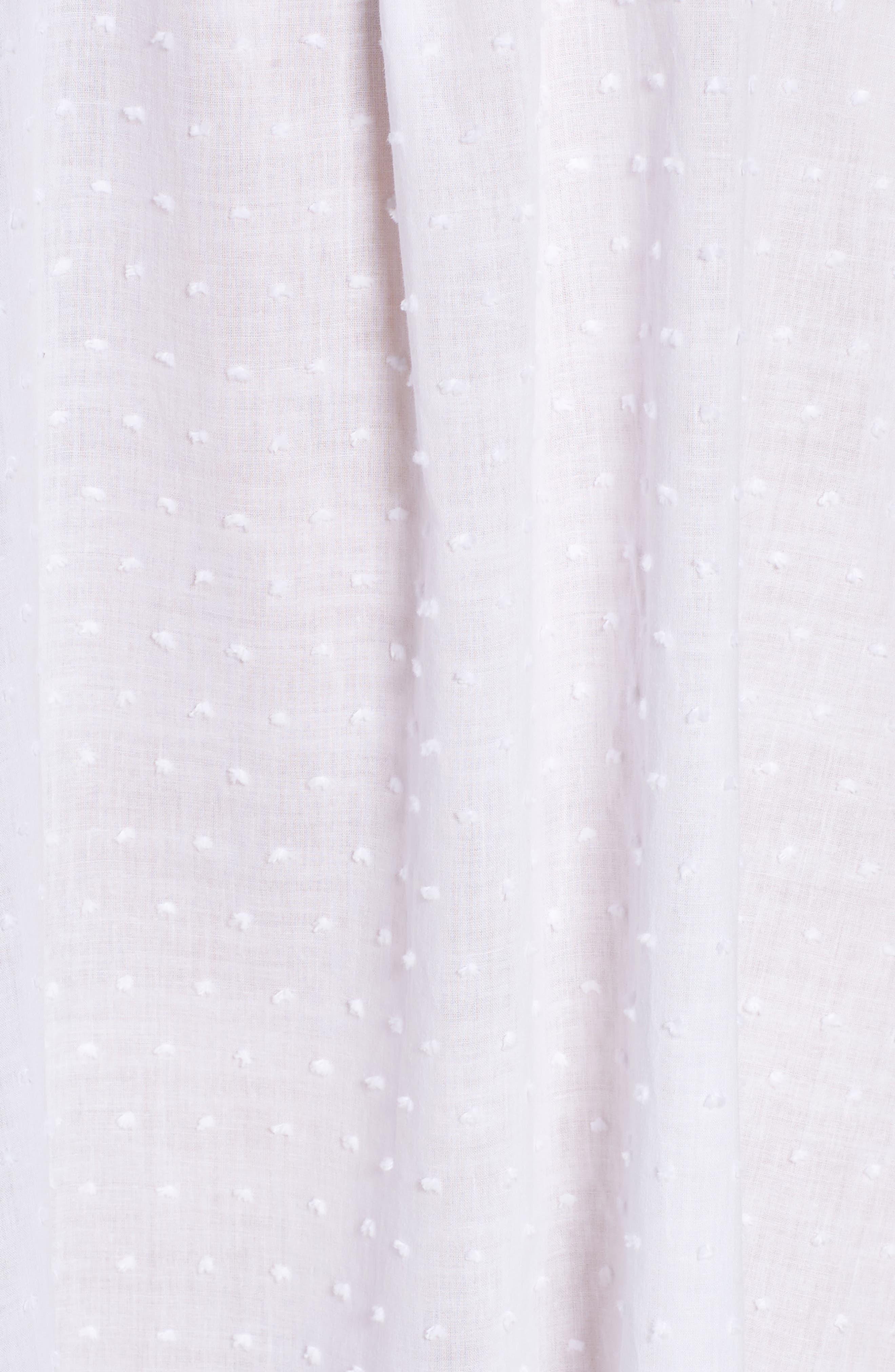 Swiss Dot Nightgown,                             Alternate thumbnail 5, color,                             White