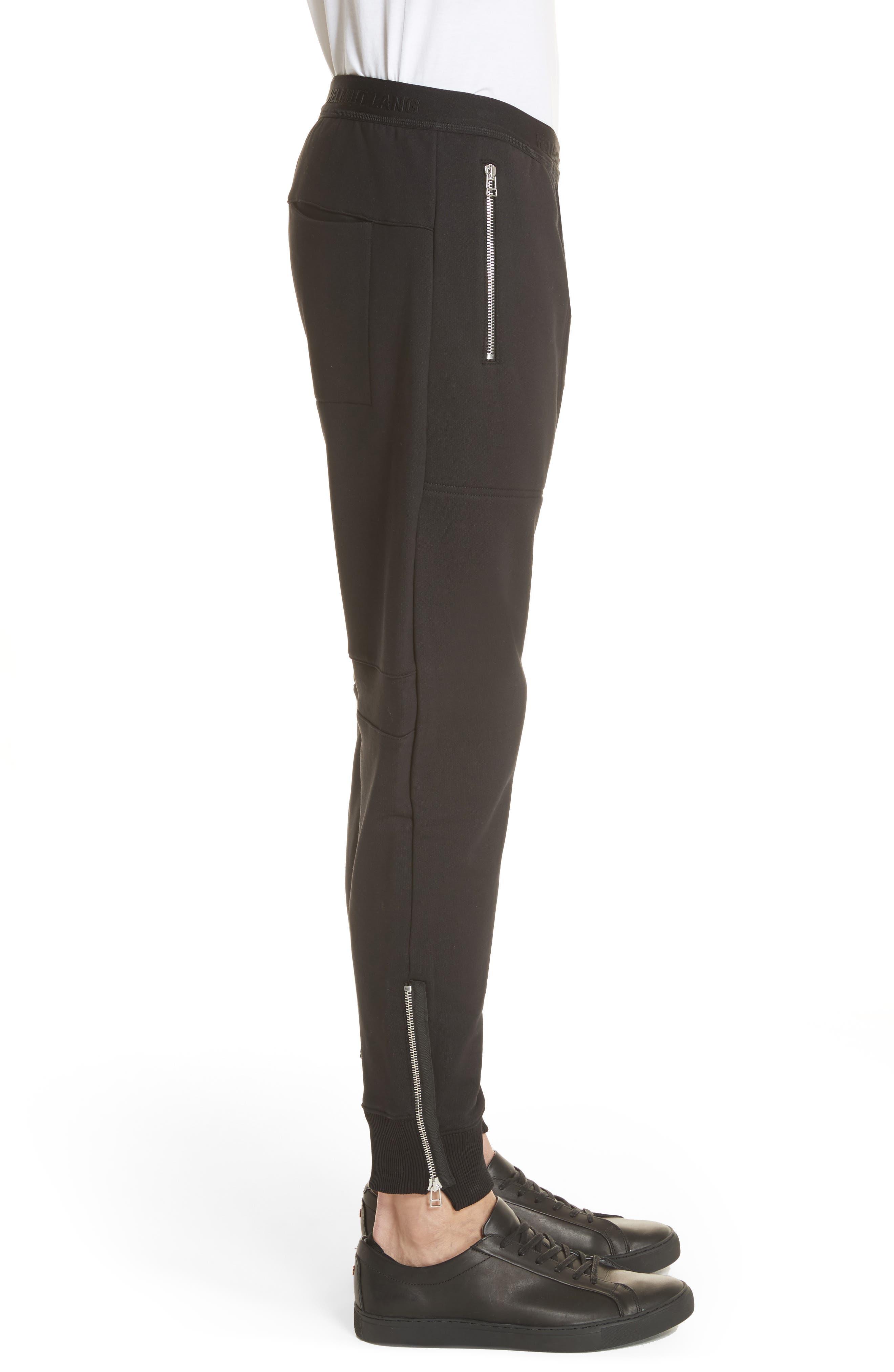 Zip Jogger Pants,                             Alternate thumbnail 3, color,                             Black