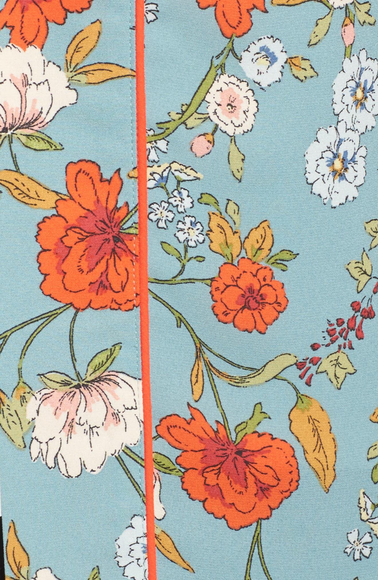 Floral Kimono,                             Alternate thumbnail 6, color,                             D598n Basil