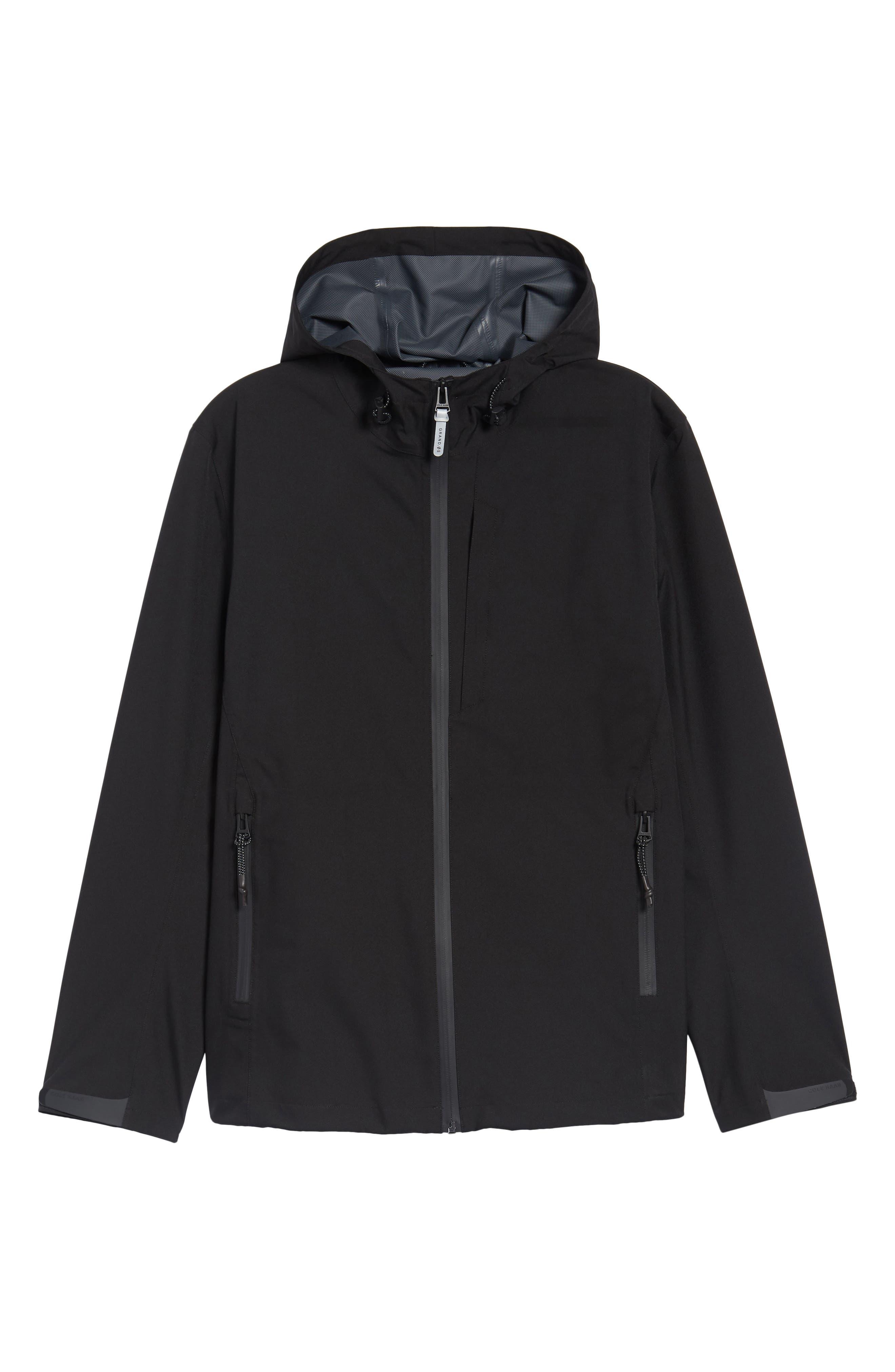 Seam Sealed Packable Jacket,                             Alternate thumbnail 6, color,                             Black