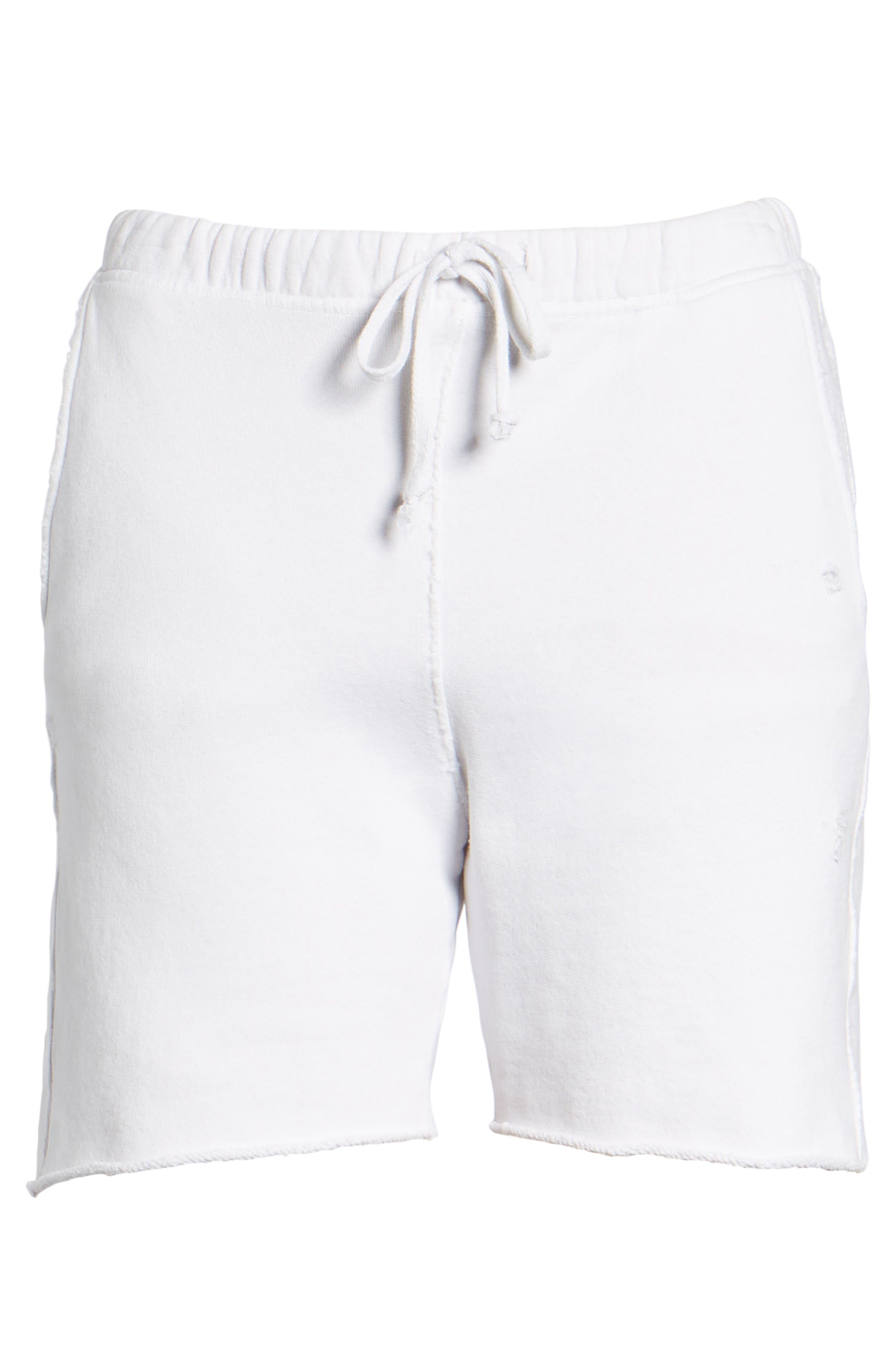 Fleece Shorts,                             Alternate thumbnail 6, color,                             Dirty White 10 Yr Vintage