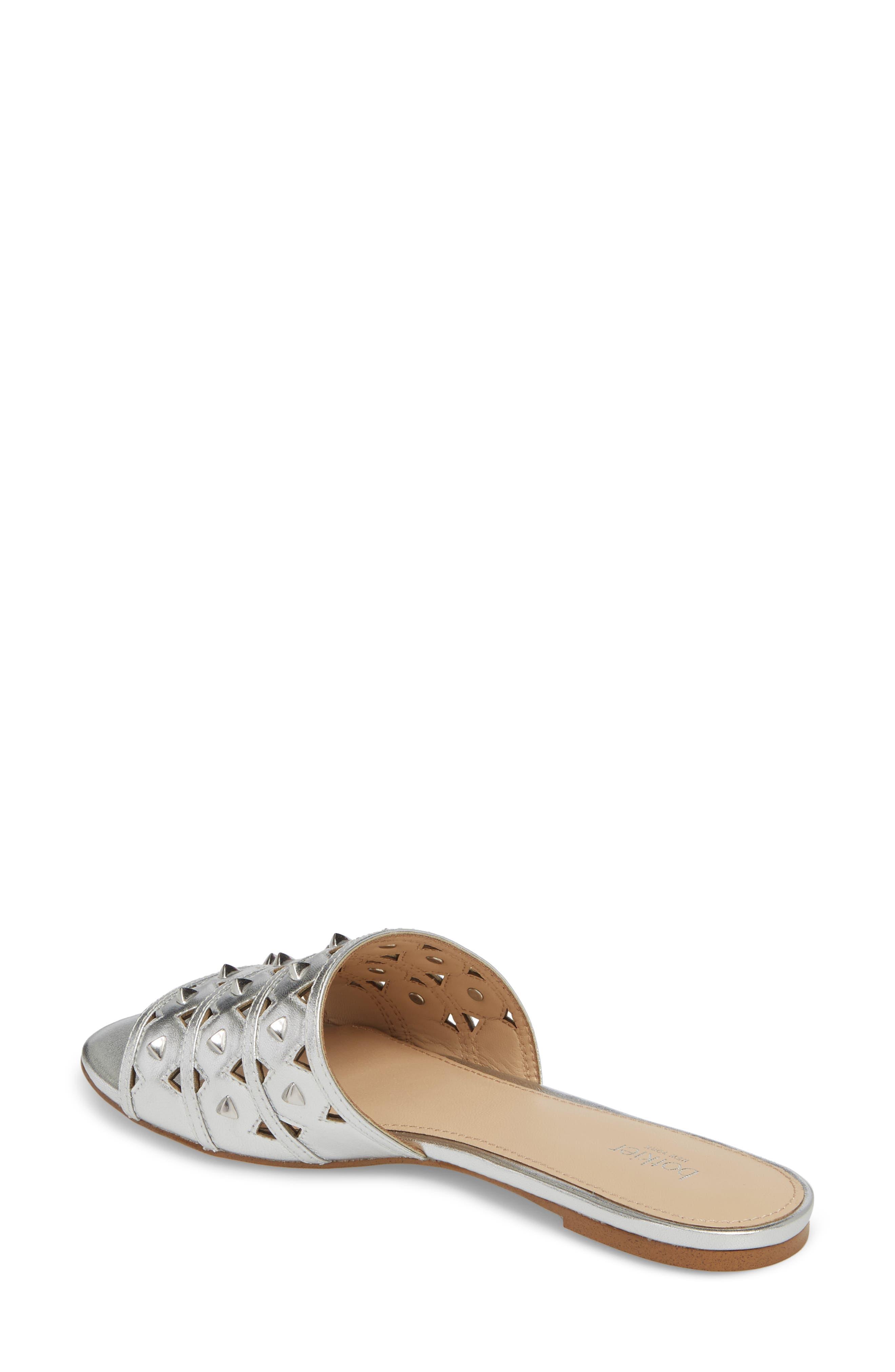 Maeva Slide Sandal,                             Alternate thumbnail 2, color,                             Argento Leather