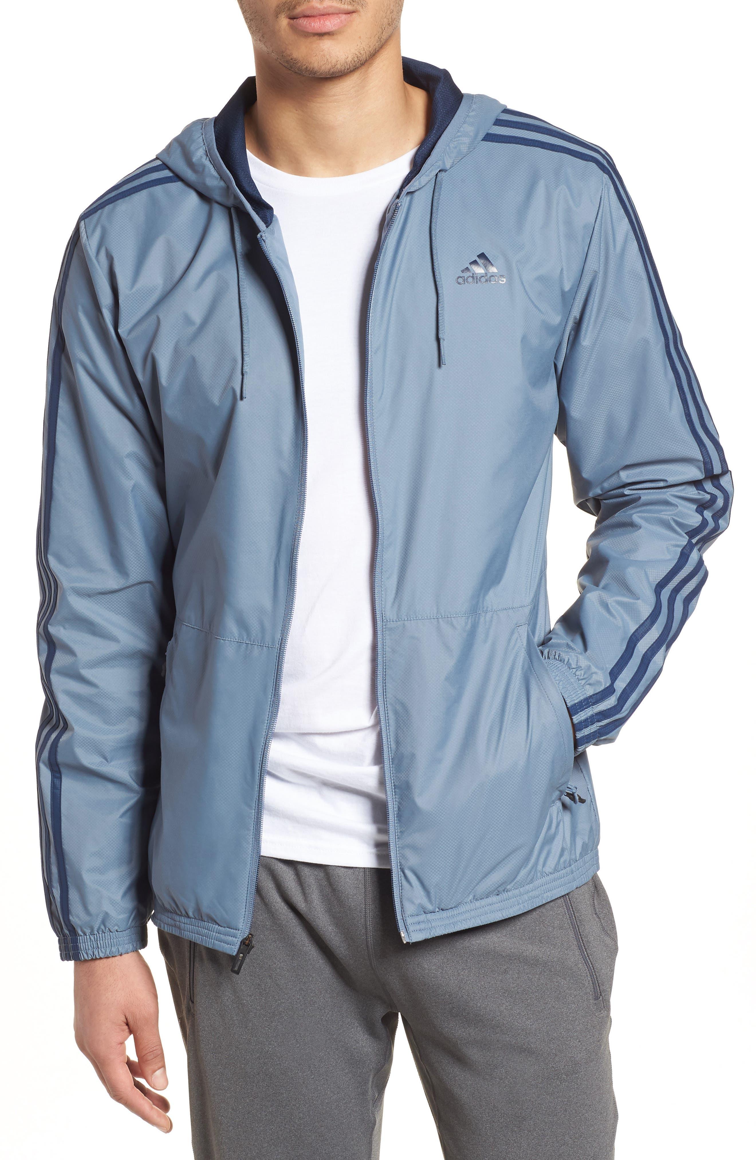 Essentials Wind Jacket,                         Main,                         color, Raw Steel / Collegiate Navy
