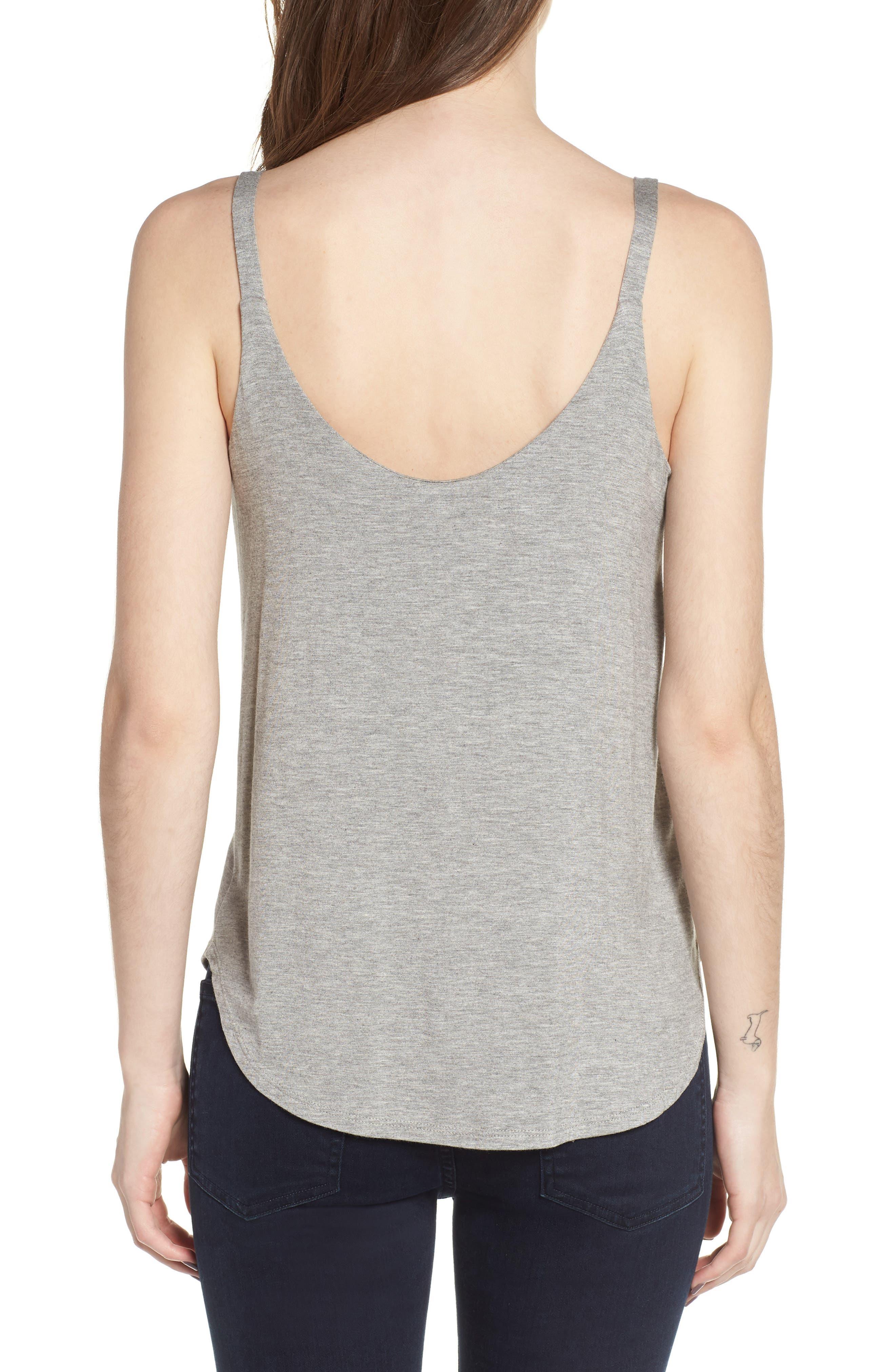Drape Knit Tank,                             Alternate thumbnail 2, color,                             Grey