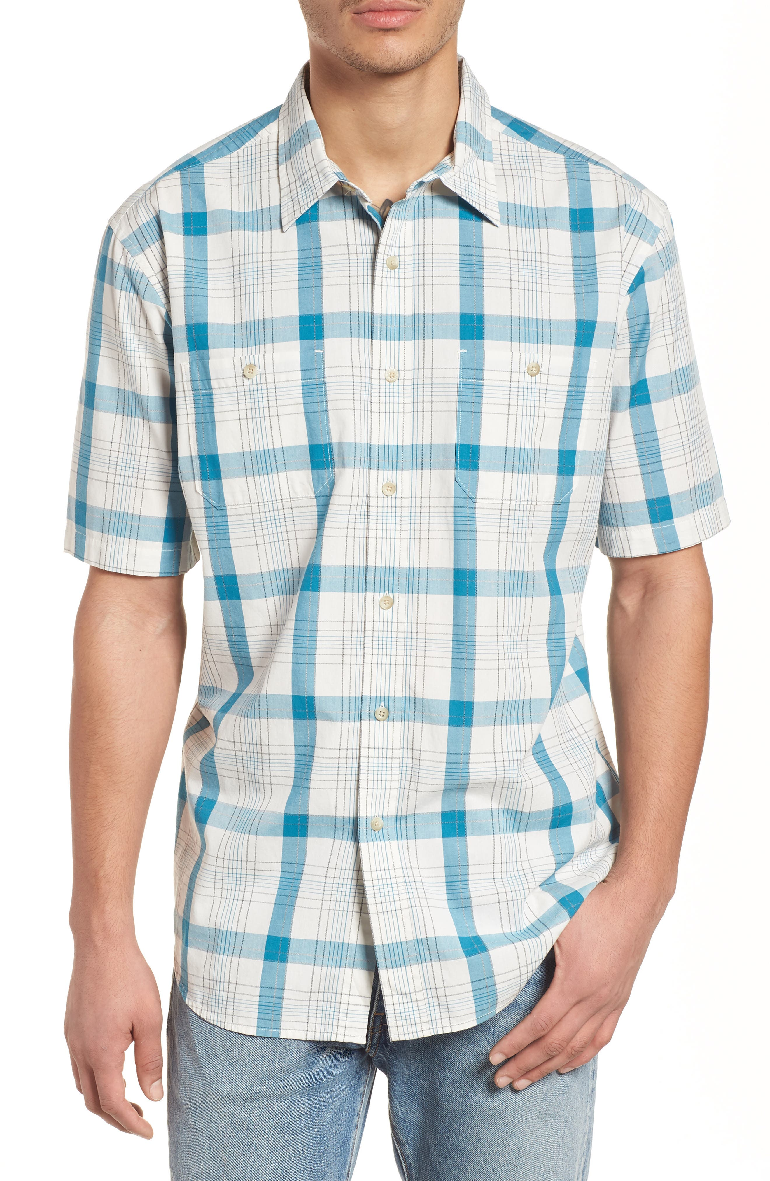 PENDLETON CLEAR LAKE SHORT SLEEVE WOVEN SHIRT