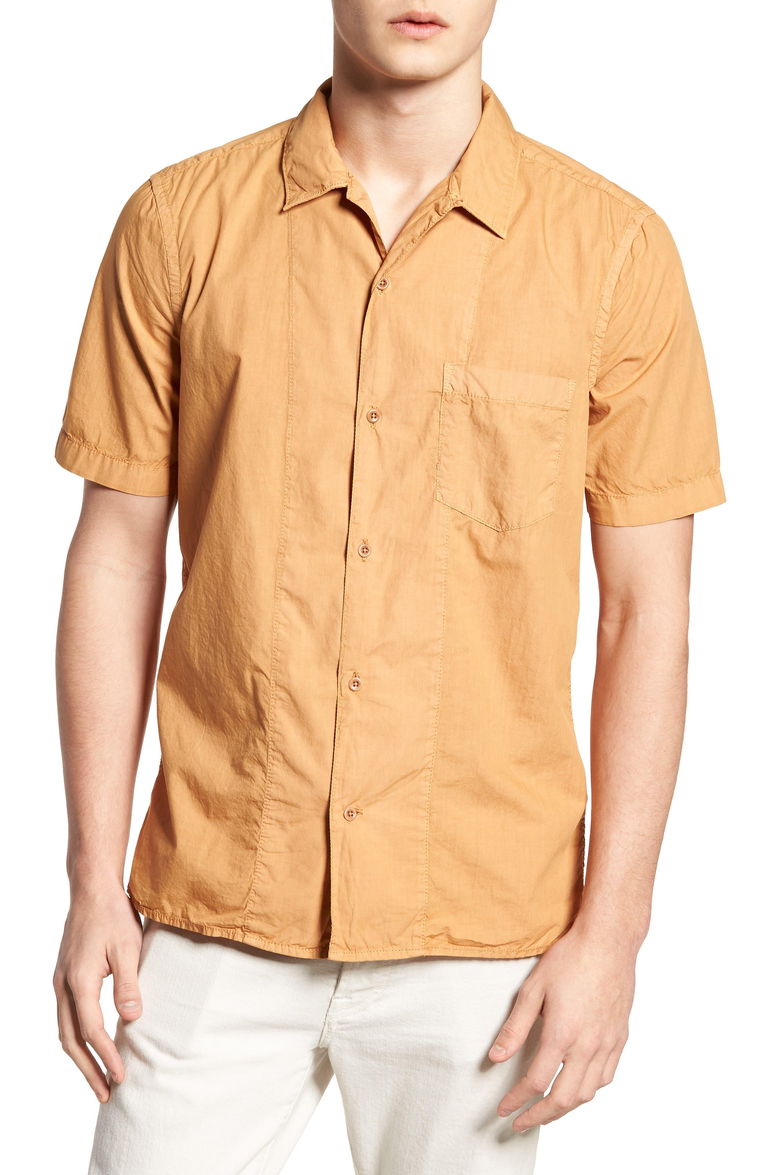 Slim Fit Solid Sport Shirt,                         Main,                         color, Doe
