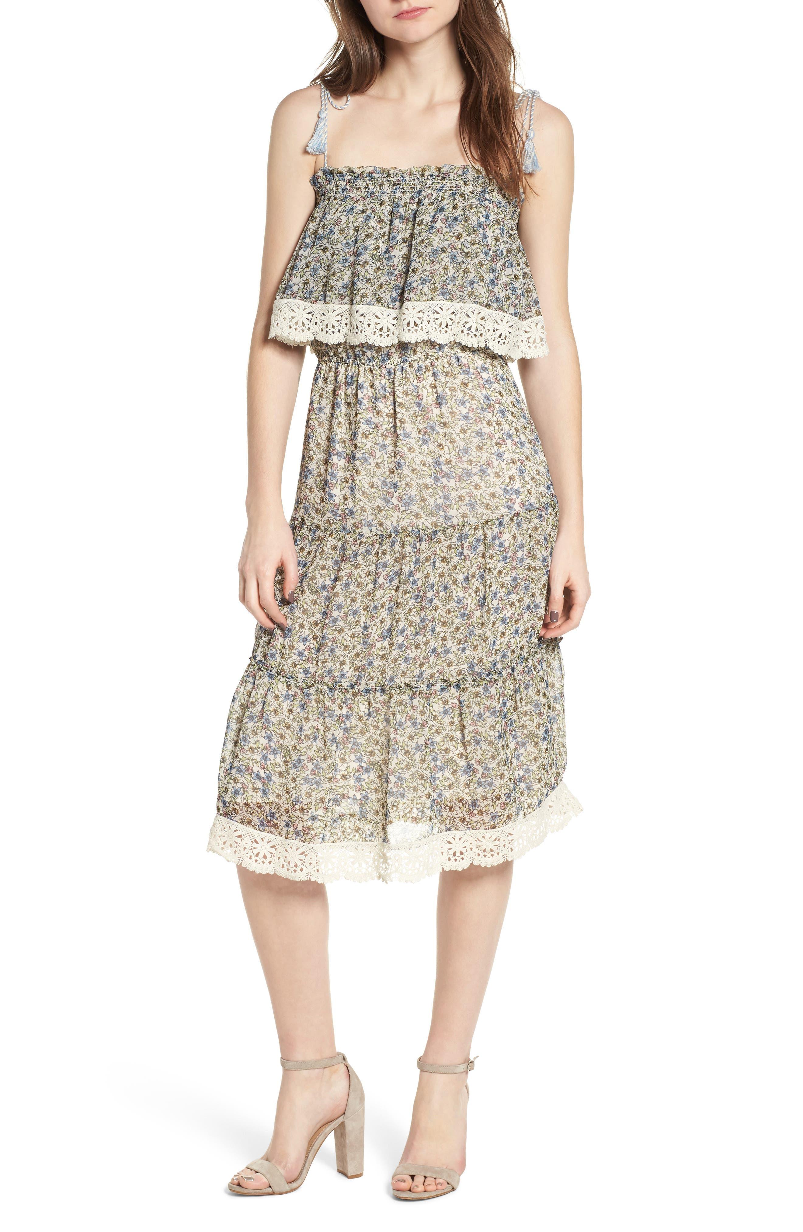 Deda Popover Dress,                         Main,                         color, Oatmeal