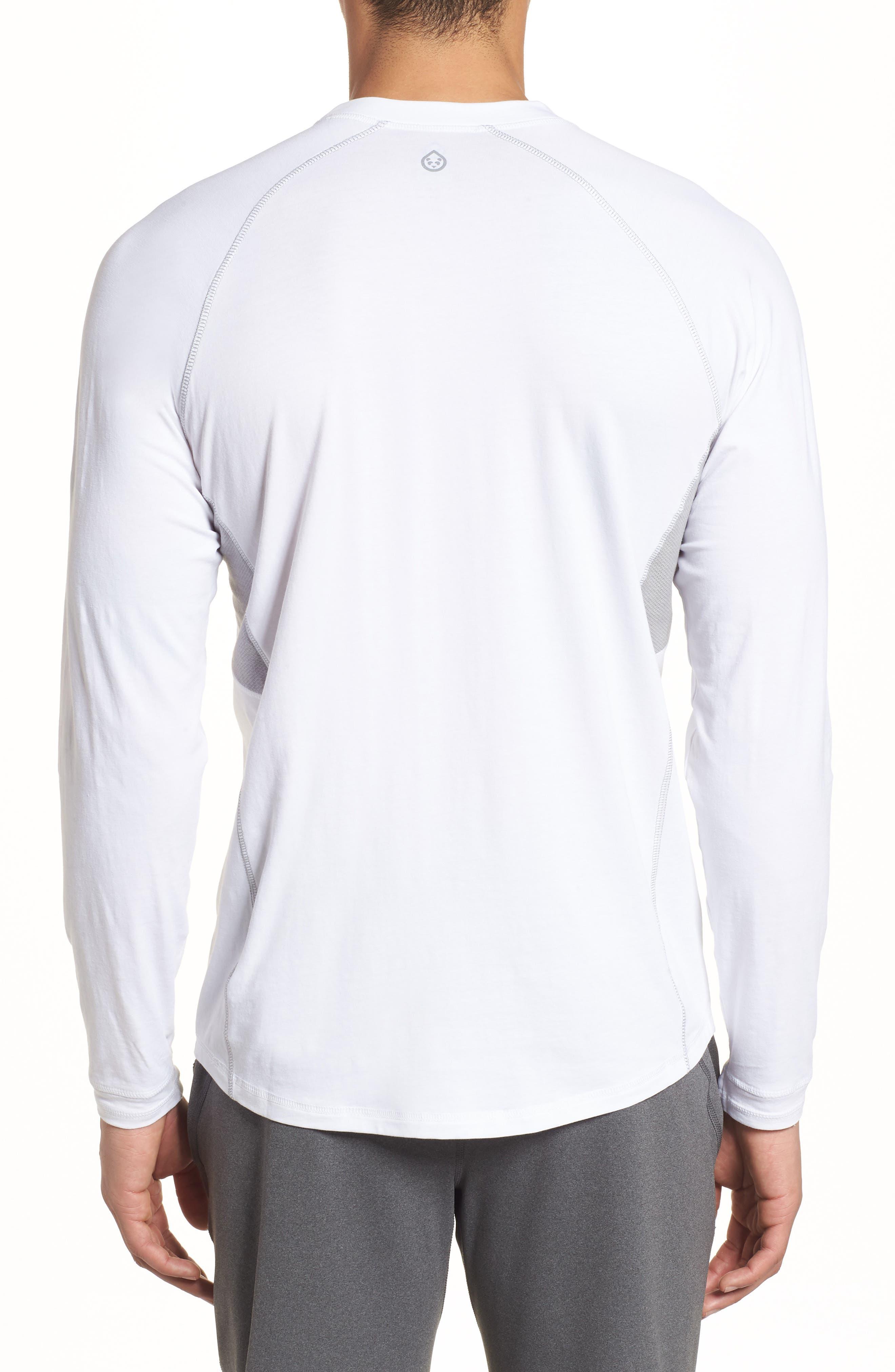Charge II Long Sleeve T-Shirt,                             Alternate thumbnail 2, color,                             White