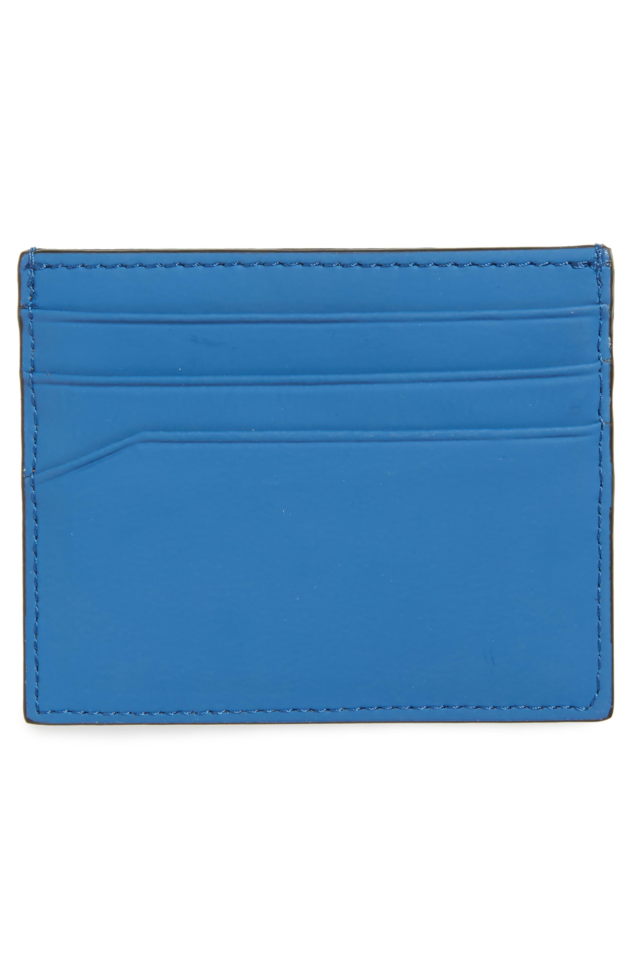 Sands Rubber Leather Card Case,                             Alternate thumbnail 2, color,                             Blue