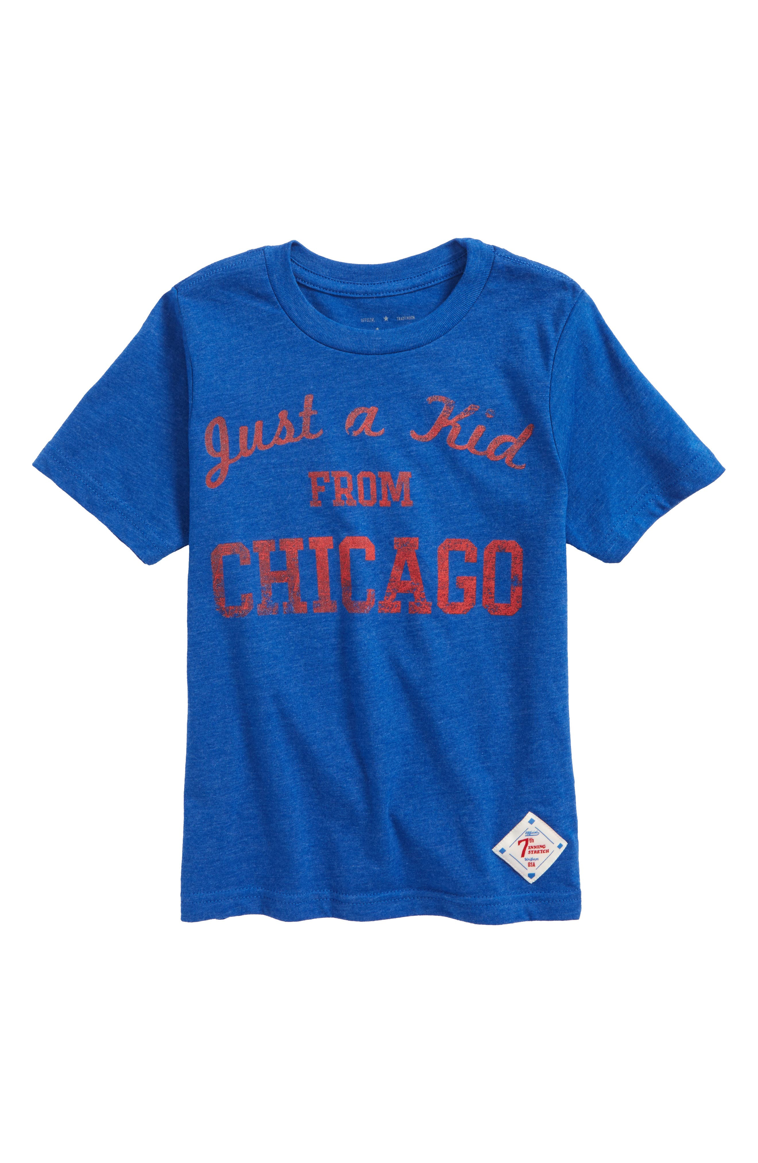 Just a Kid from Chicago Graphic T-Shirt,                         Main,                         color, Royal/ Red