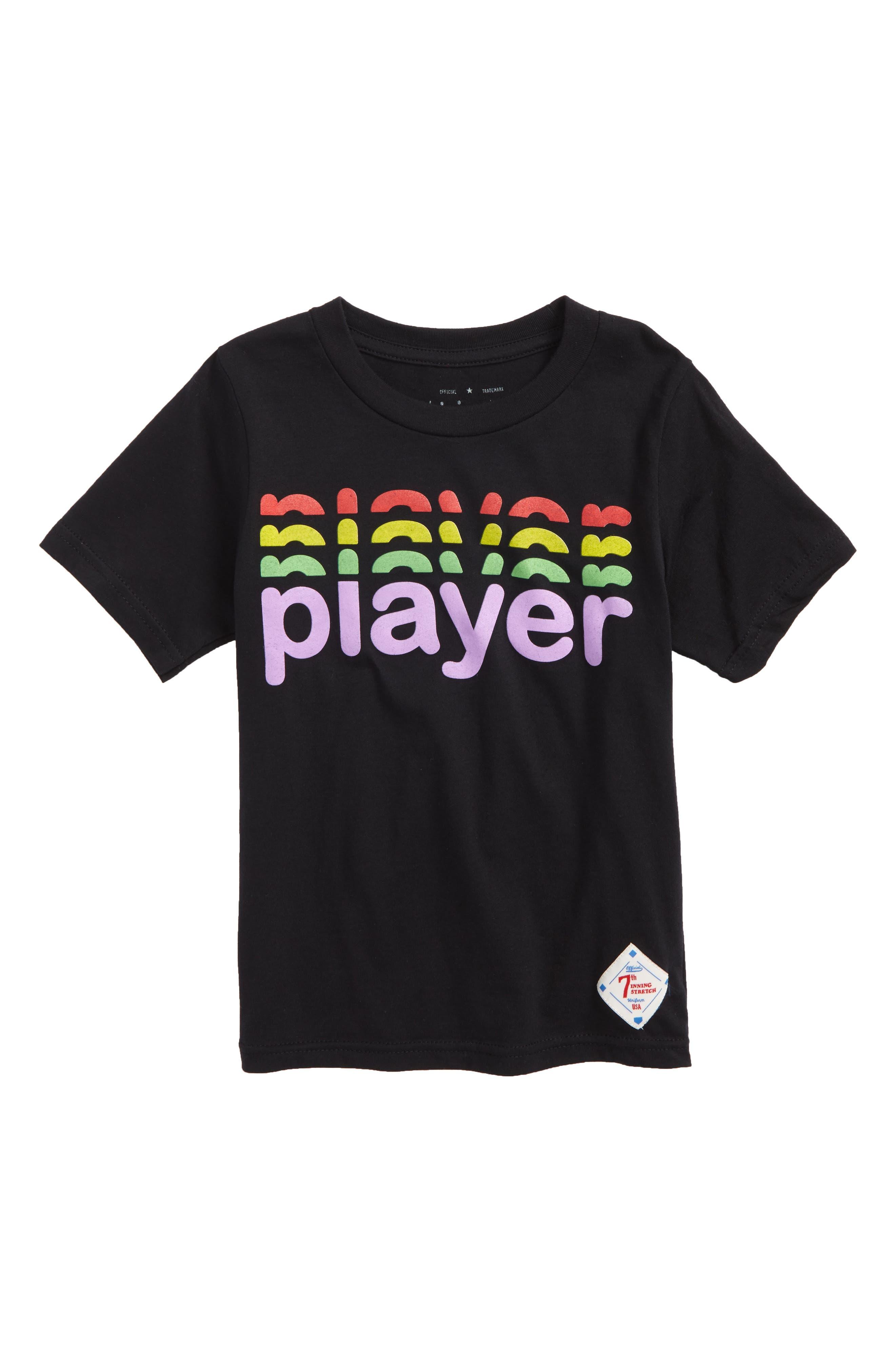 Player Graphic T-Shirt,                             Main thumbnail 1, color,                             Black