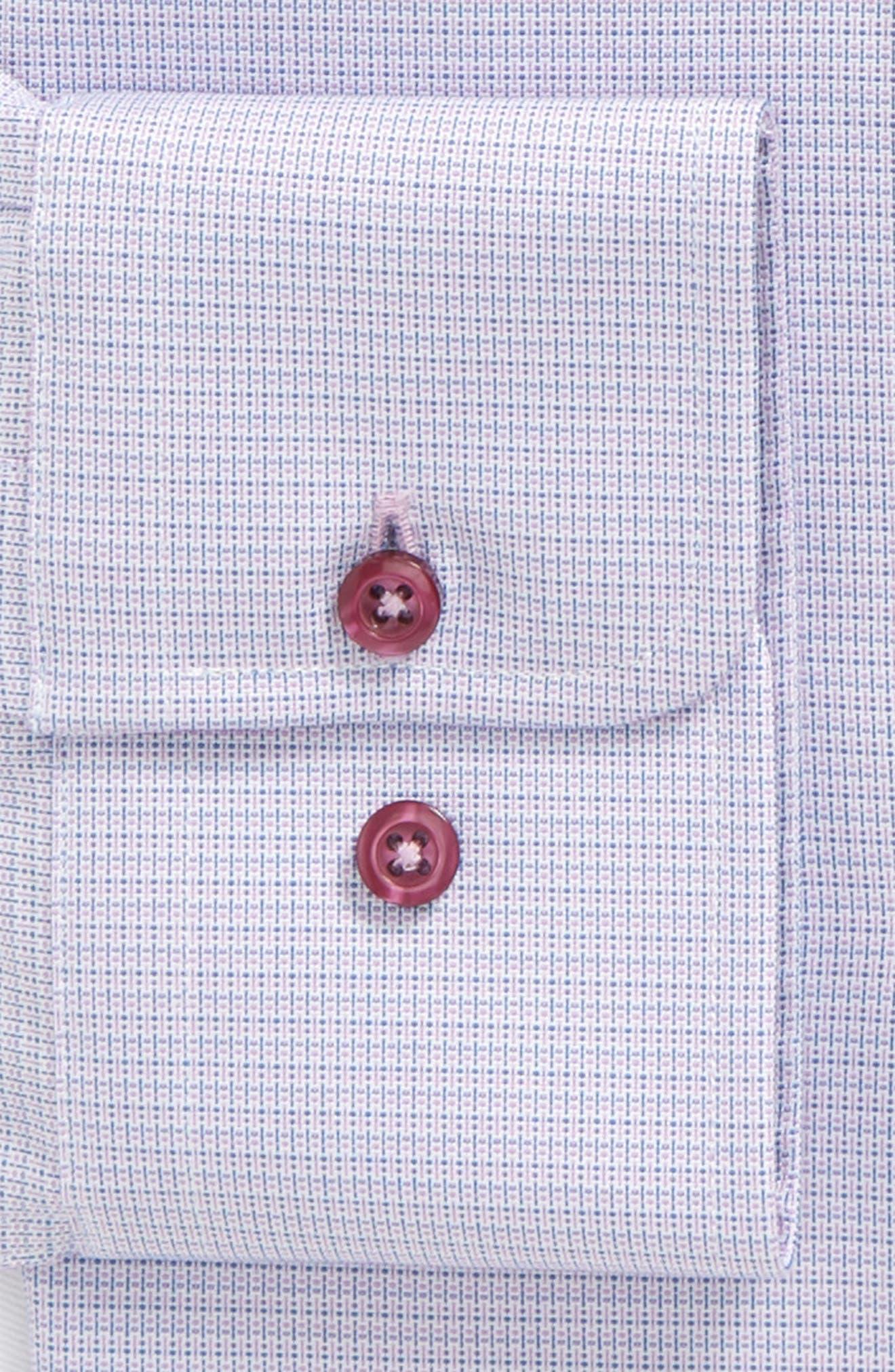 Print Slim Fit Dress Shirt,                             Alternate thumbnail 2, color,                             Berry