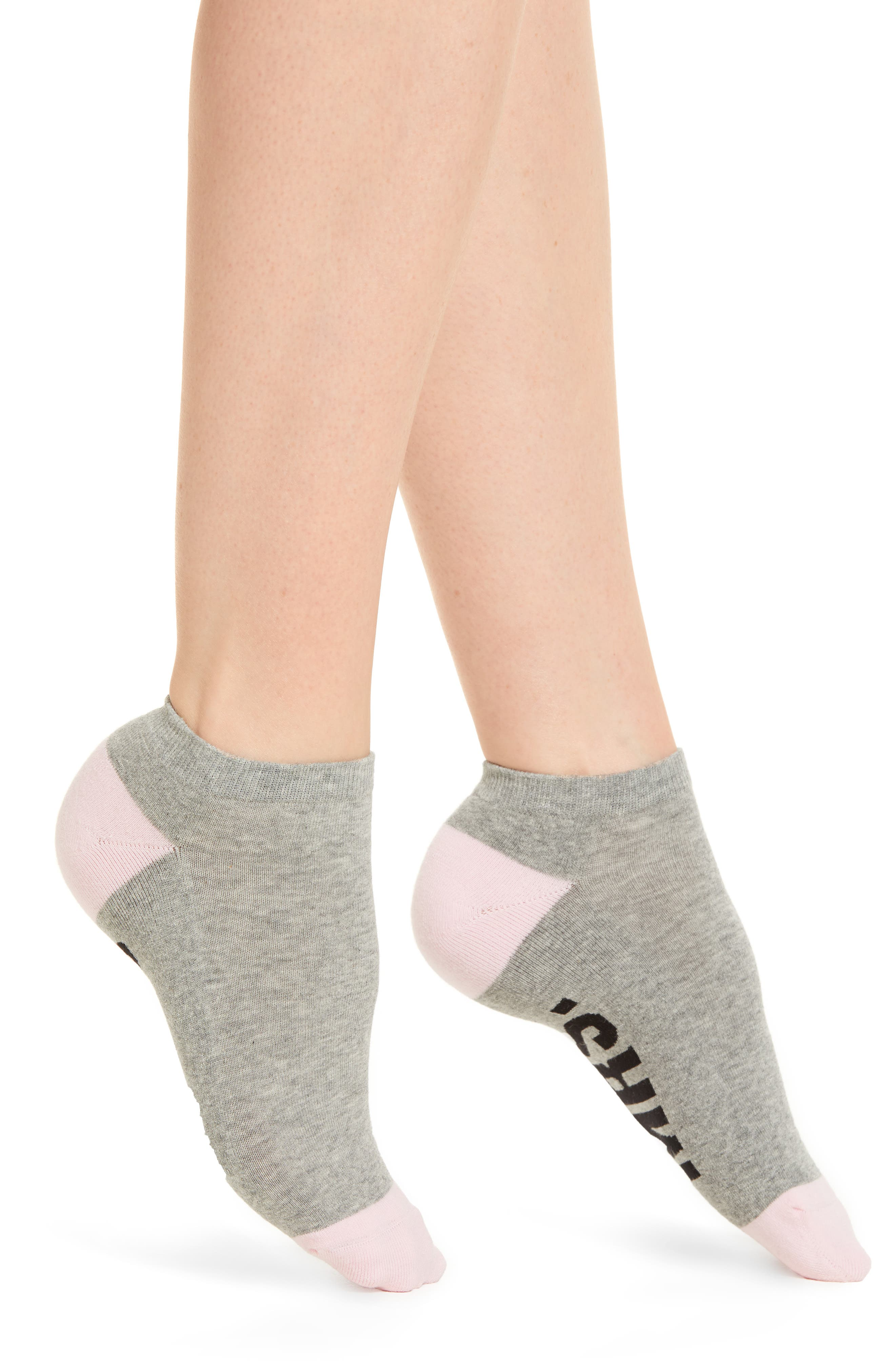 Miss to Mrs. Low-Cut Socks,                         Main,                         color, Grey Heather