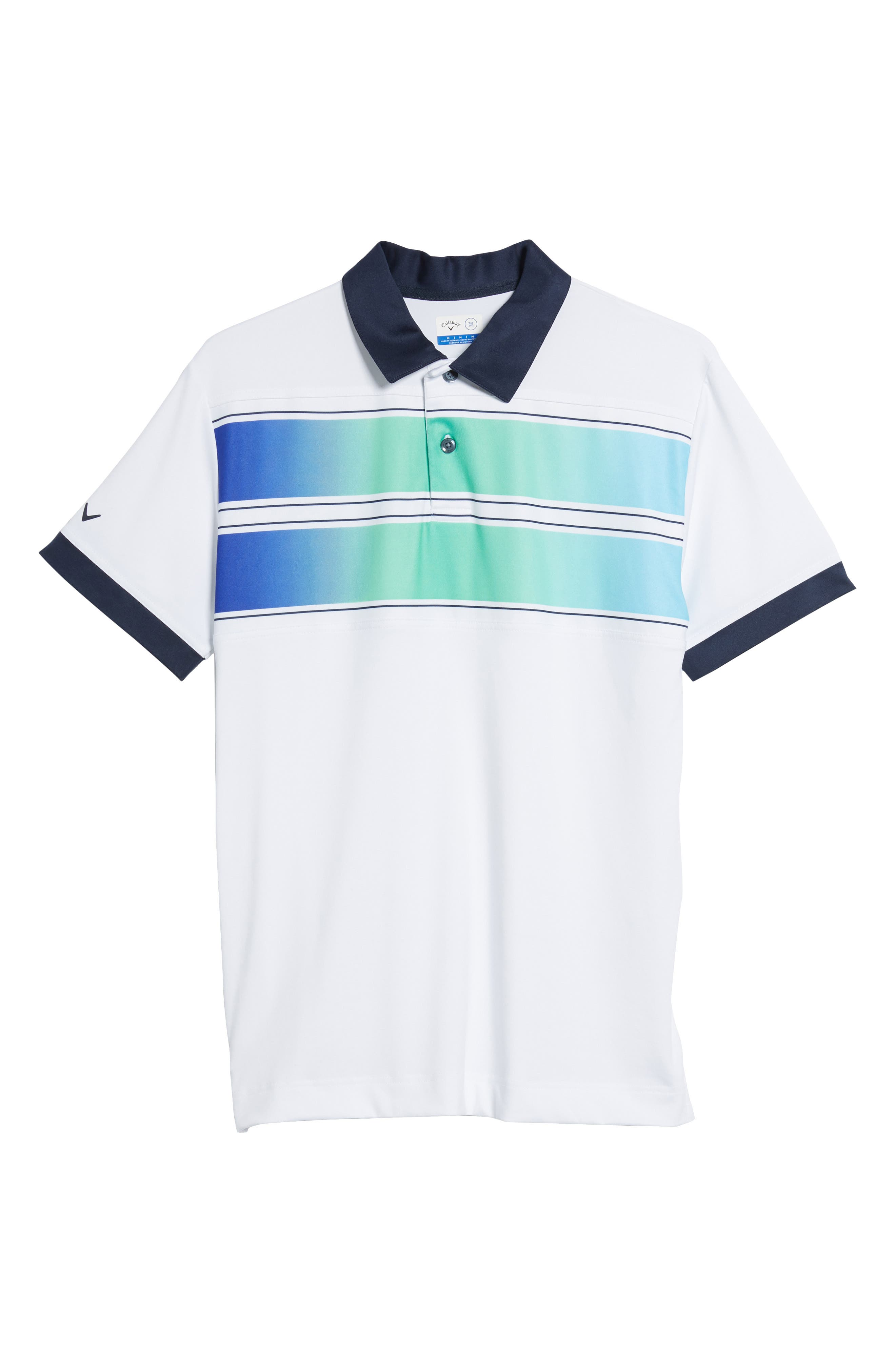 Slim Fit Double Chest Polo,                             Alternate thumbnail 6, color,                             Bright White