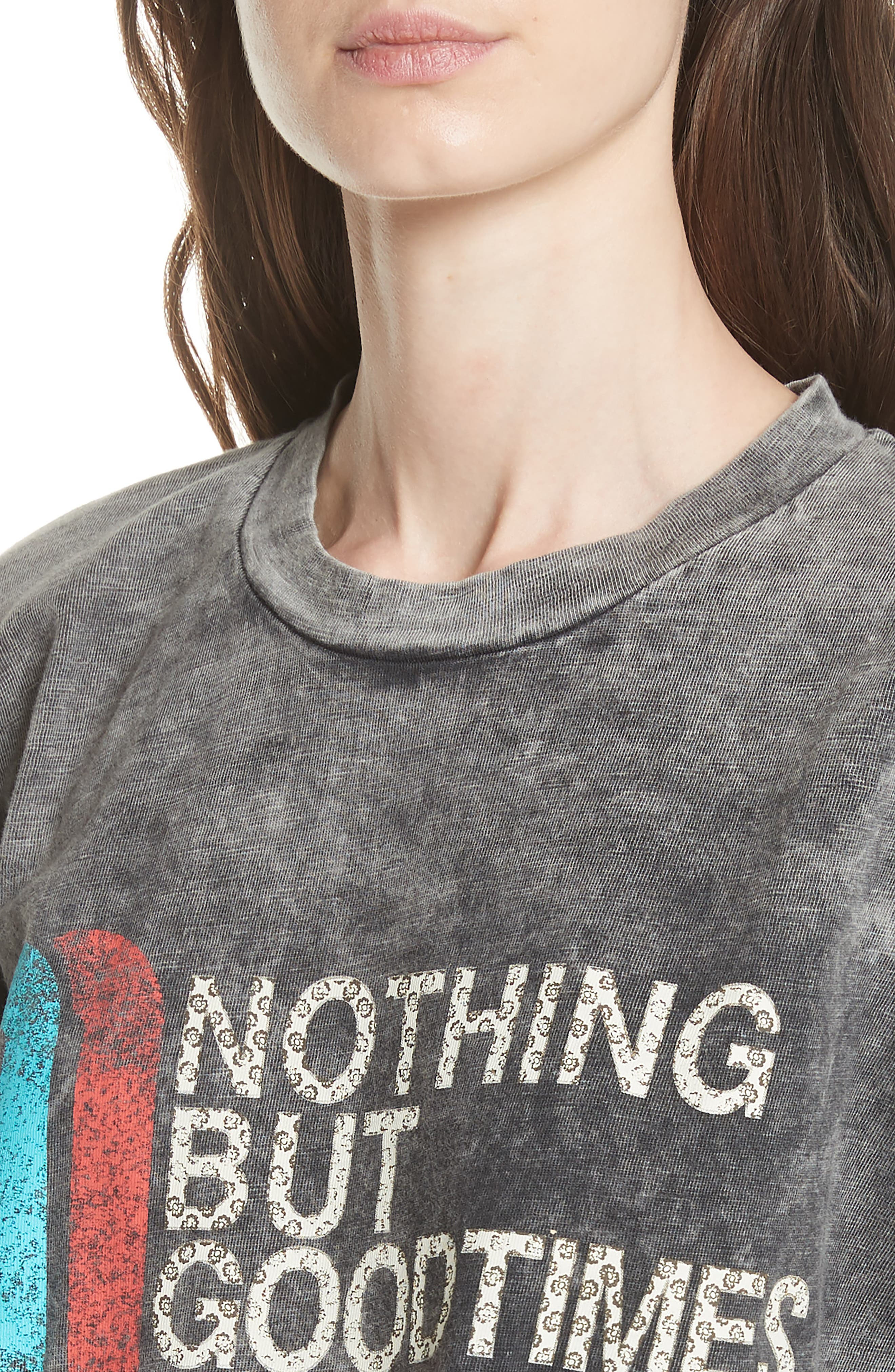 Nothing But Good Times Tee,                             Alternate thumbnail 4, color,                             Grey