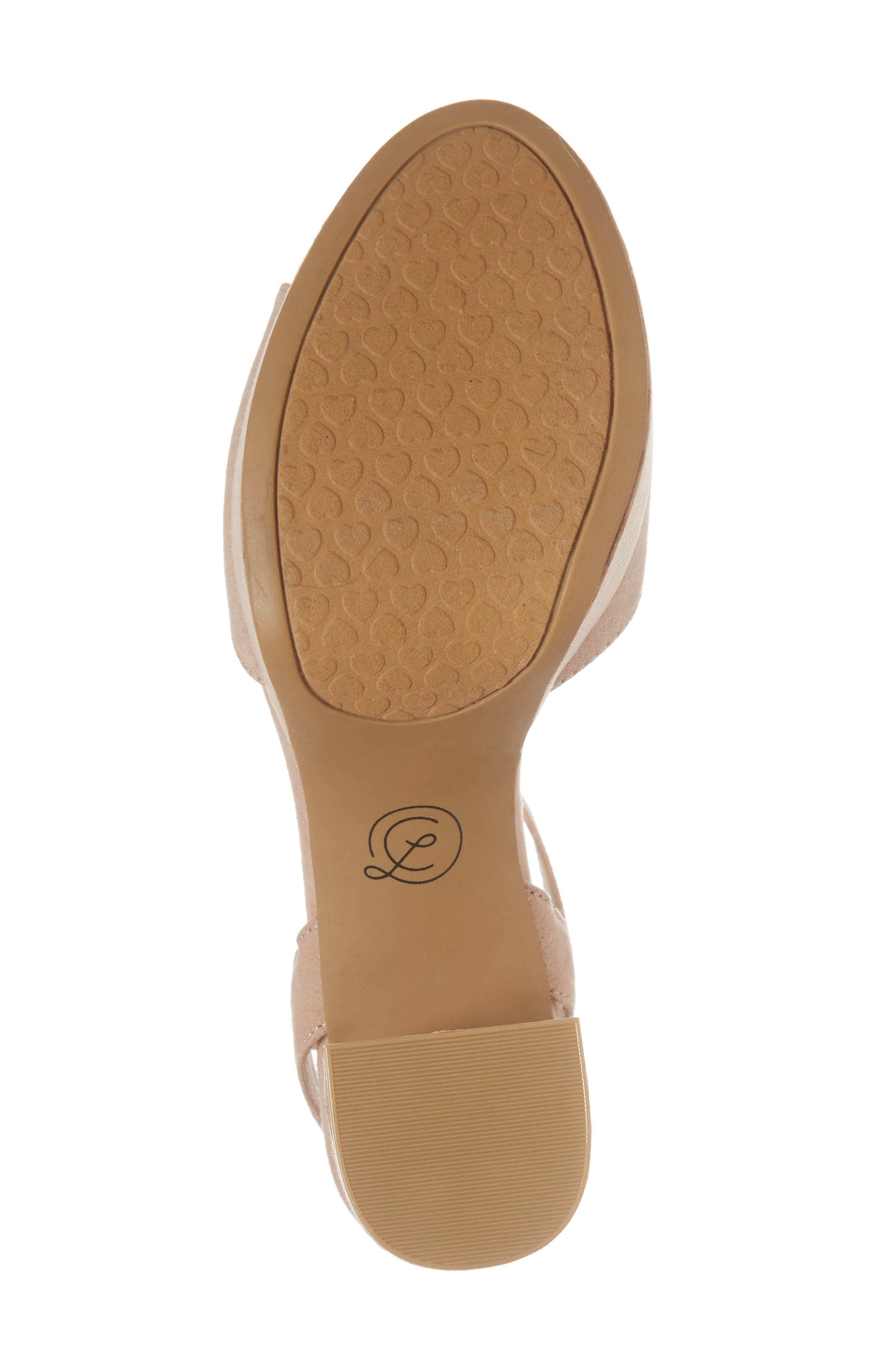 Theresa Platform Sandal,                             Alternate thumbnail 6, color,                             Dark Nude