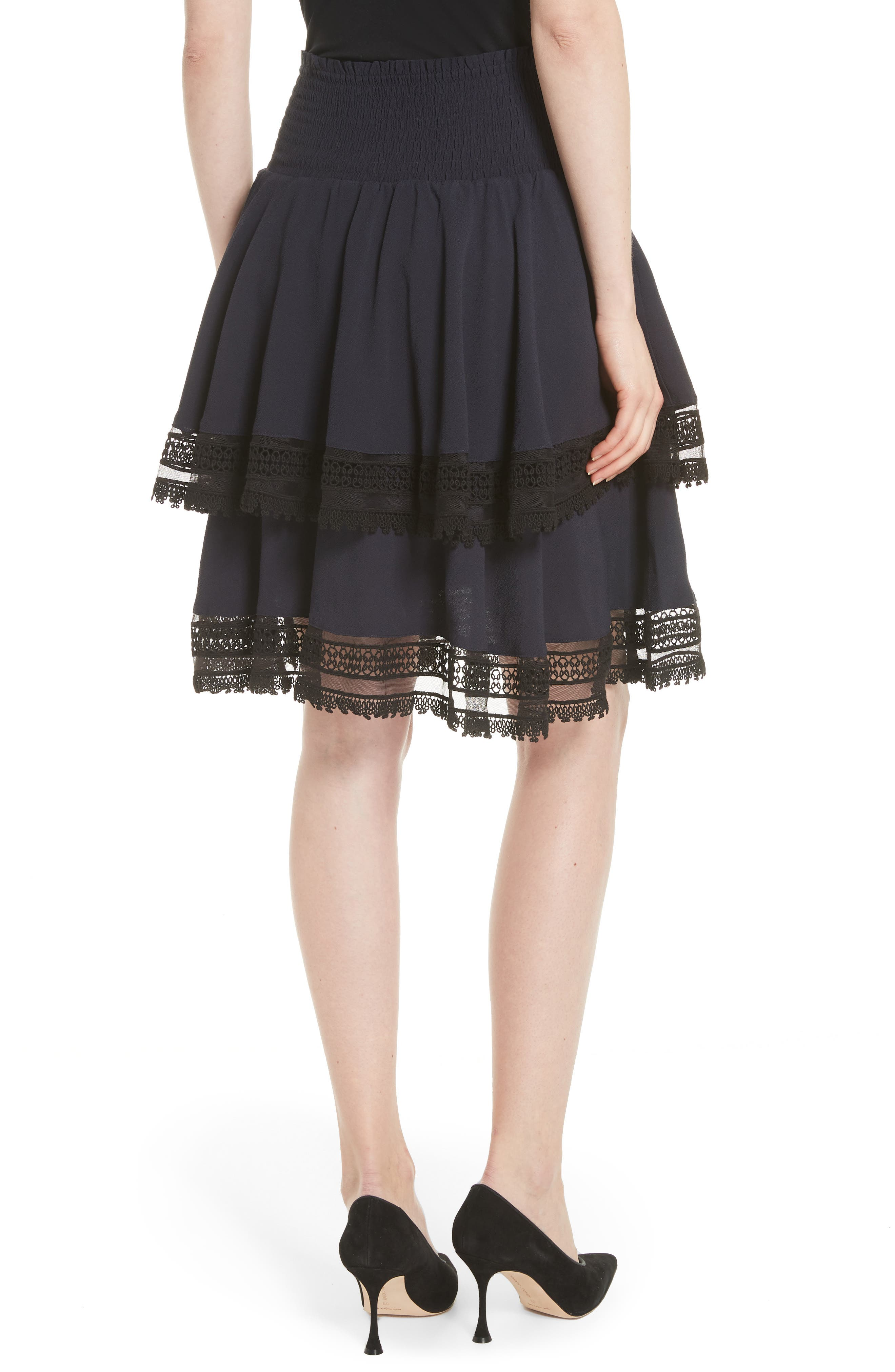 Jaglia Tiered Skirt,                             Alternate thumbnail 2, color,                             Navy
