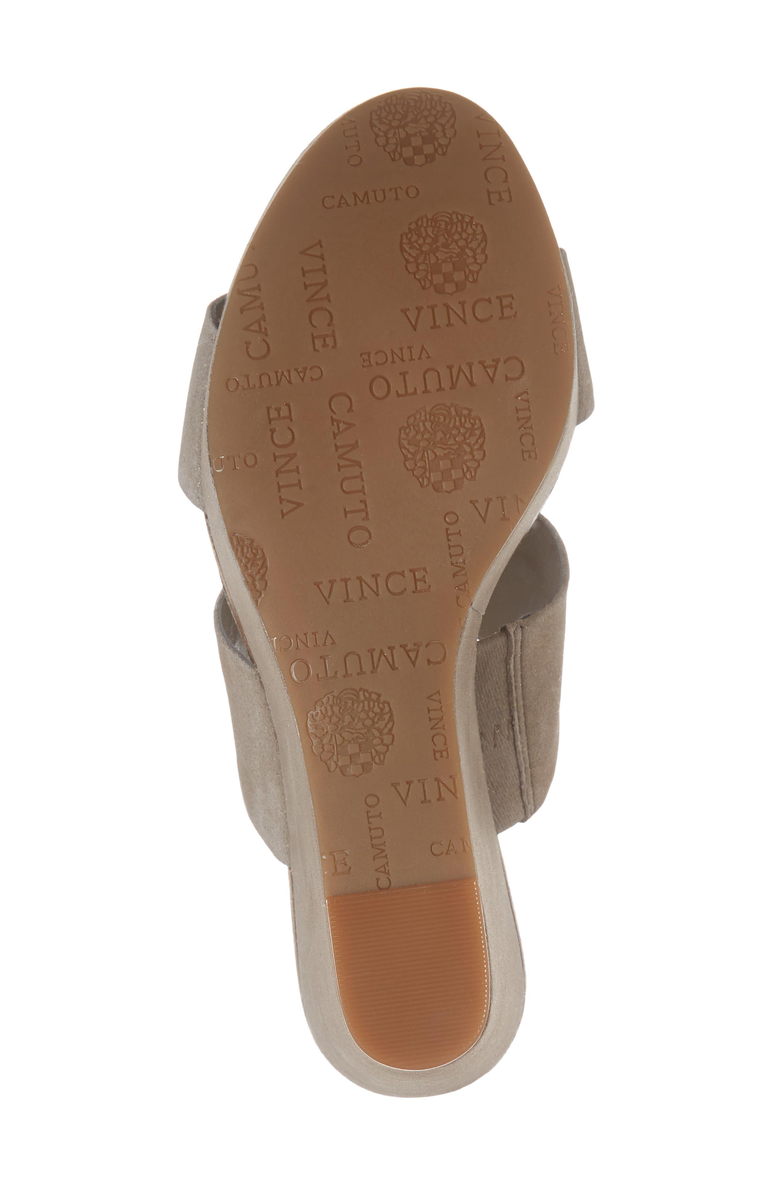 Varenia Platform Wedge Sandal,                             Alternate thumbnail 6, color,                             Silver Grey Fabric